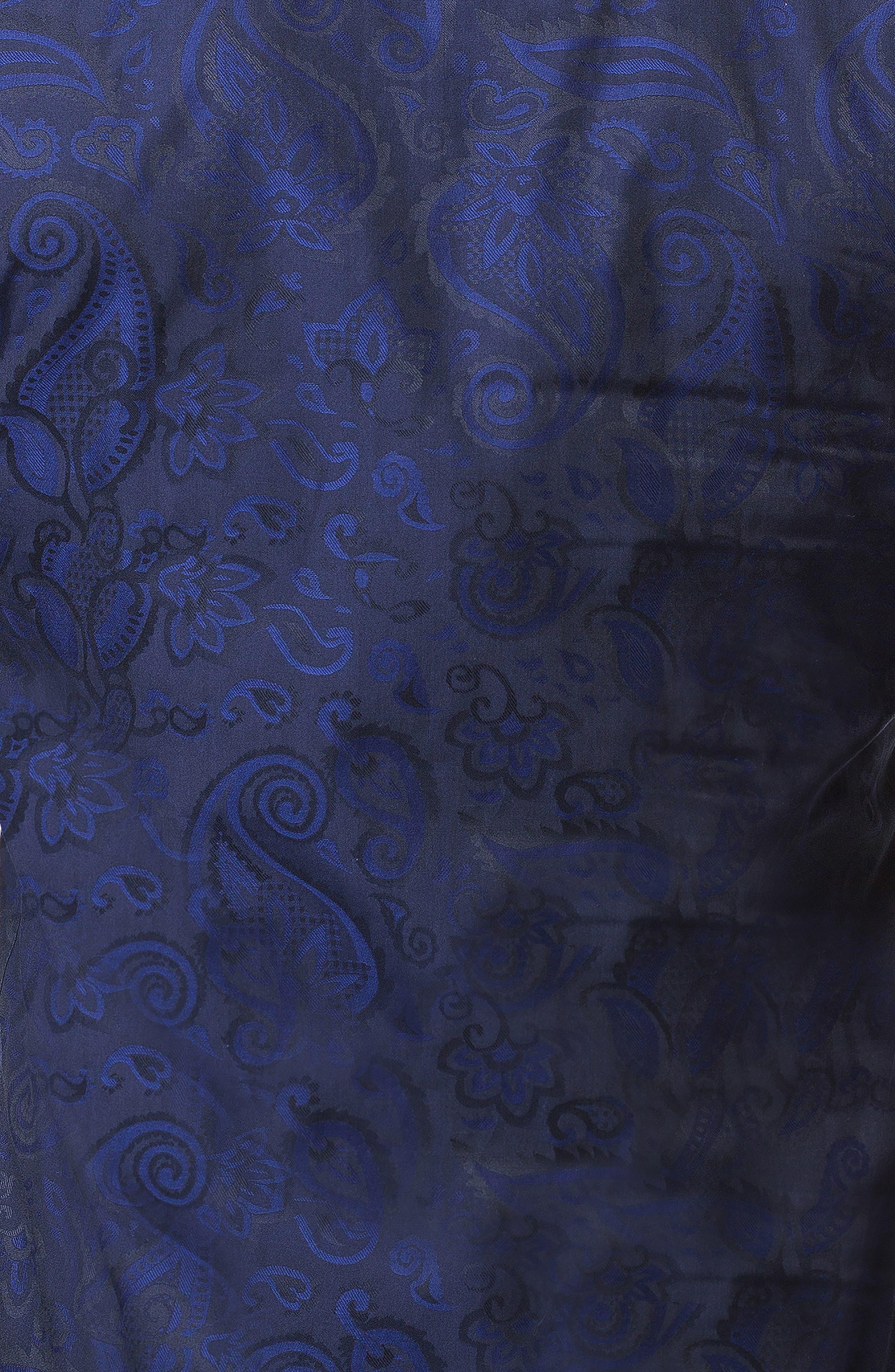 Fibonacci Paisley Trim Fit Sport Shirt,                             Alternate thumbnail 3, color,                             BLUE