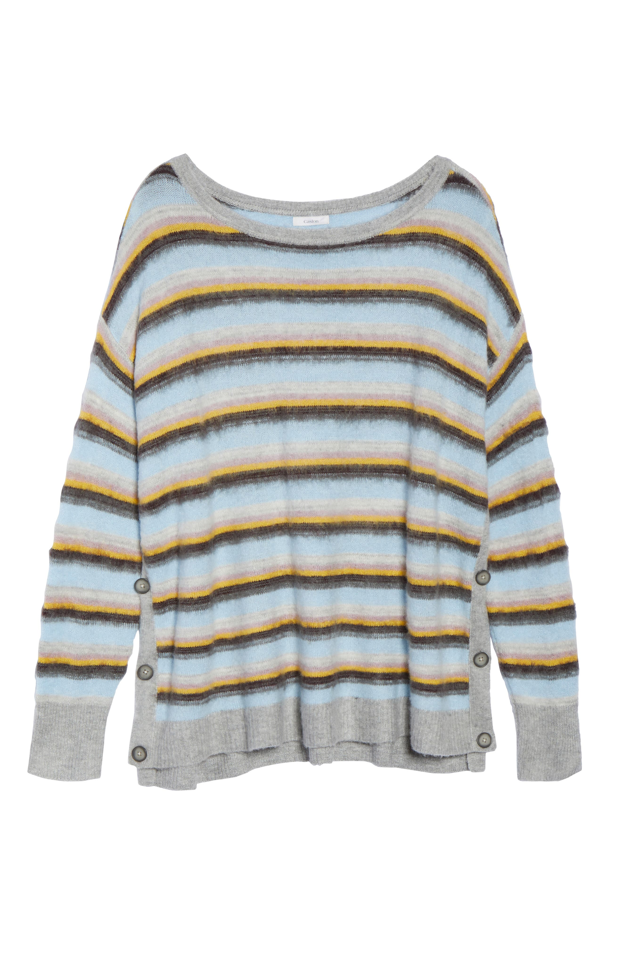 Side Button Sweater,                             Alternate thumbnail 6, color,                             030