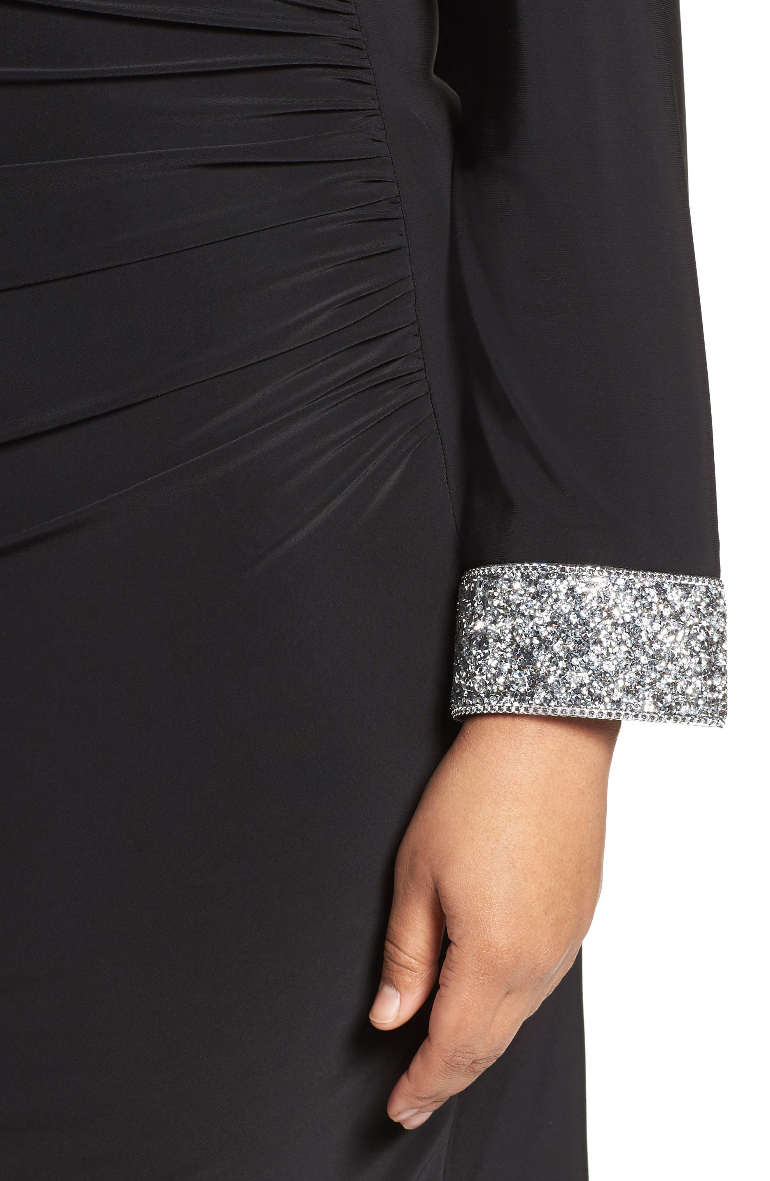 Open Back Sheath Dress,                             Alternate thumbnail 7, color,