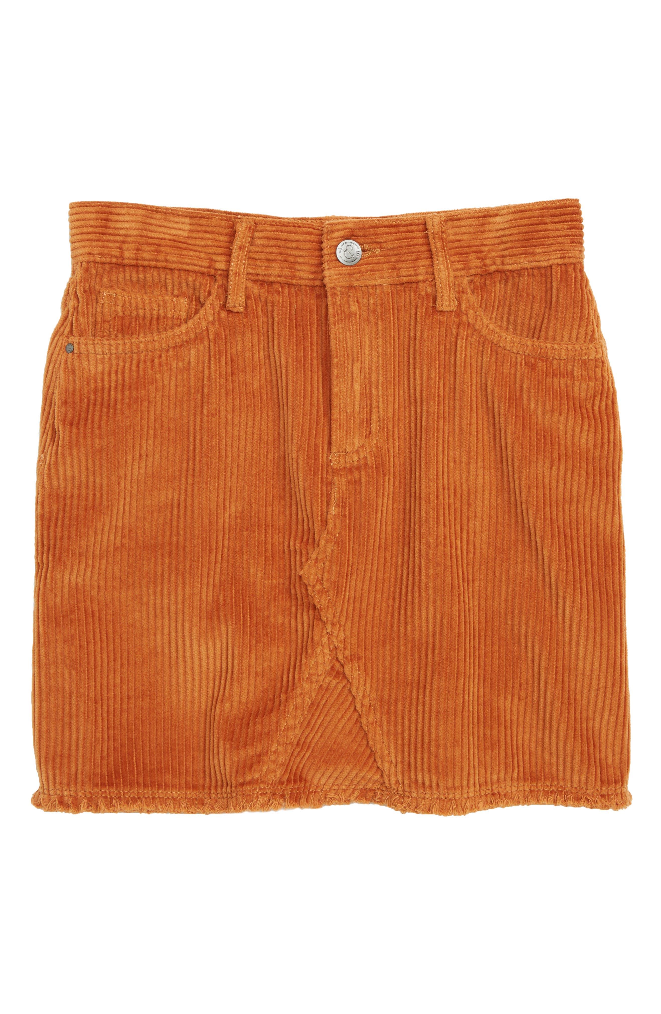 Corduroy Skirt,                         Main,                         color, TAN ADOBE