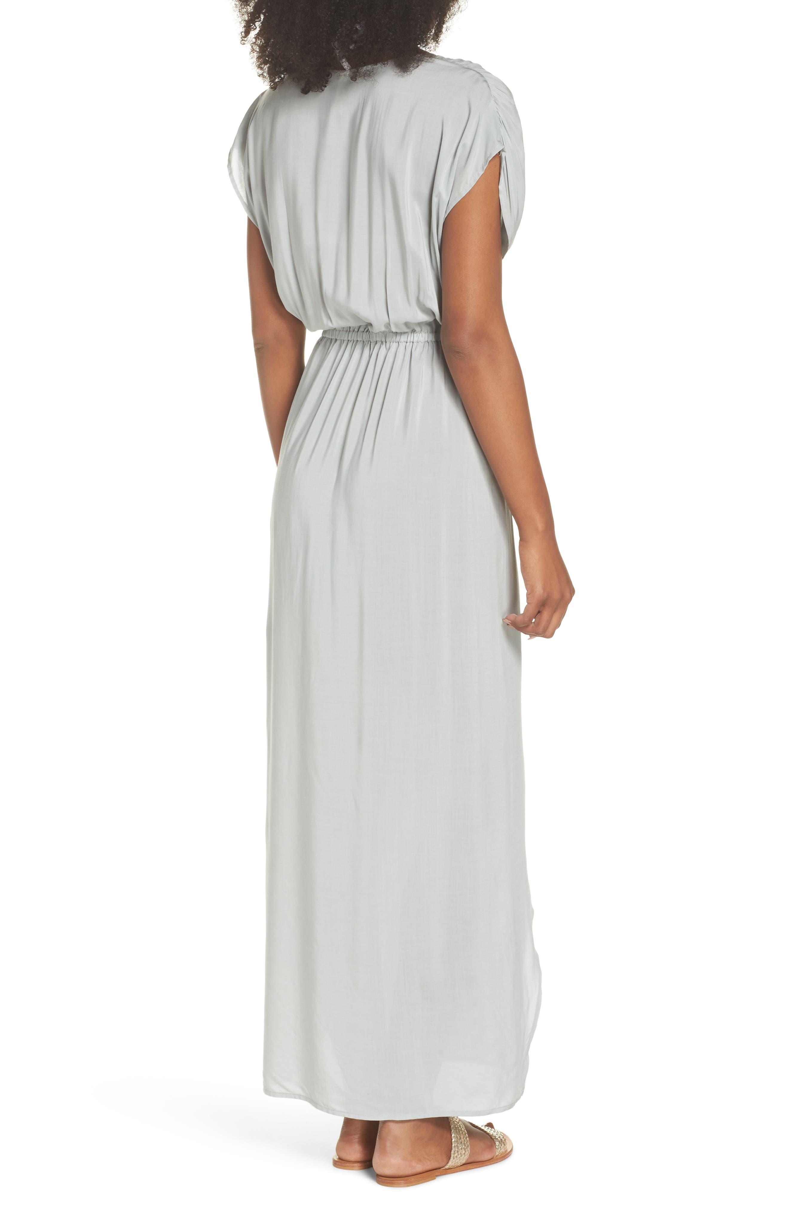 Wrap Maxi Cover-Up Dress,                             Alternate thumbnail 4, color,