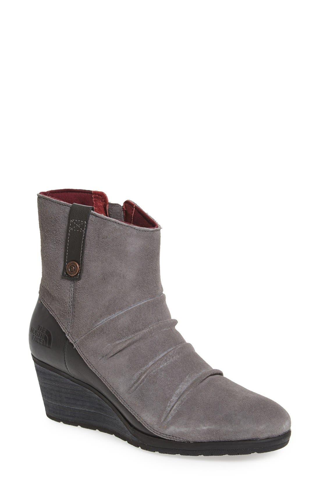 THE NORTH FACE,                             'Bridgeton' Waterproof Wedge Bootie,                             Main thumbnail 1, color,                             030