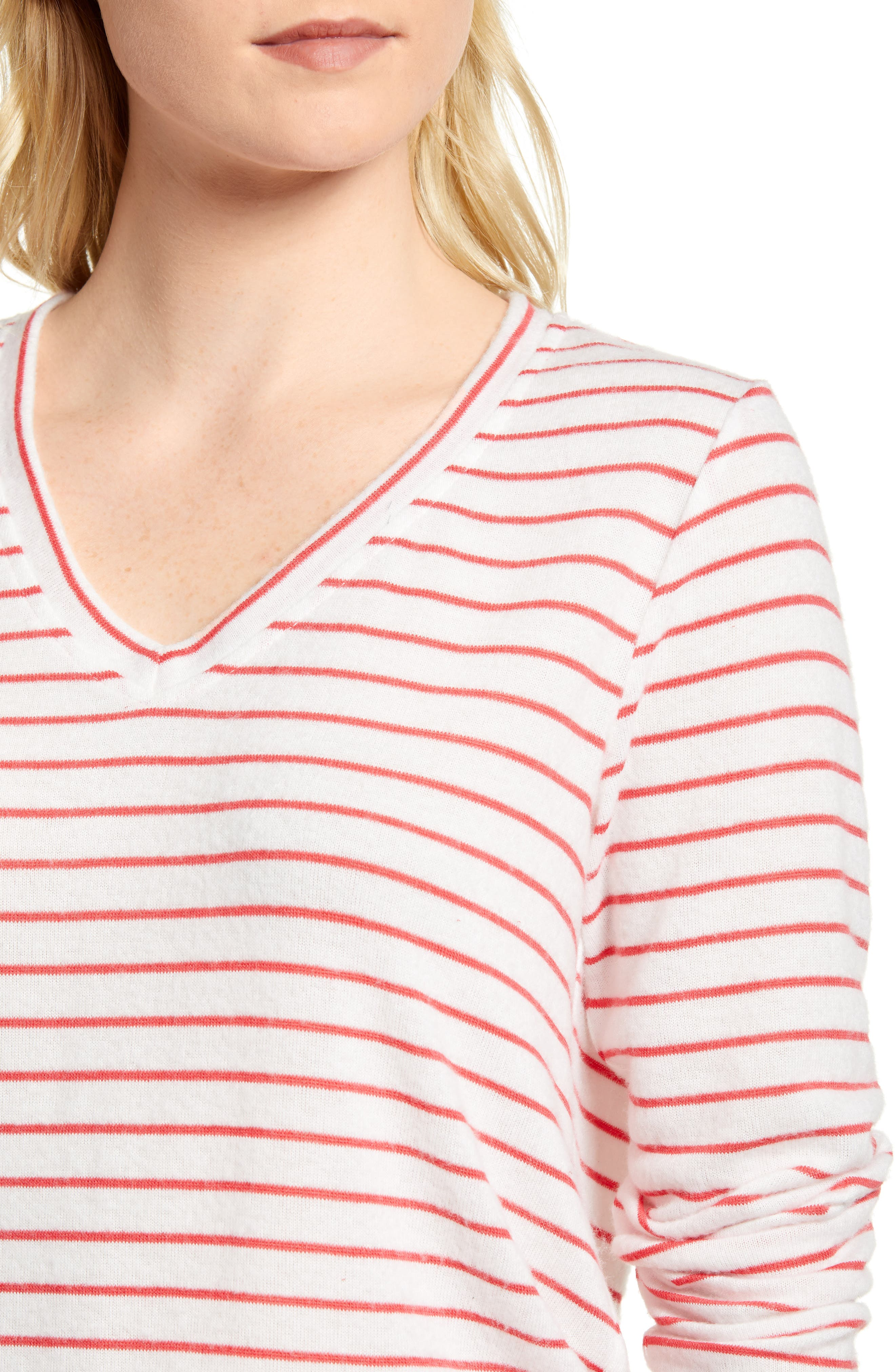 x Living in Yellow Steph Cozy Stripe Top,                             Alternate thumbnail 9, color,