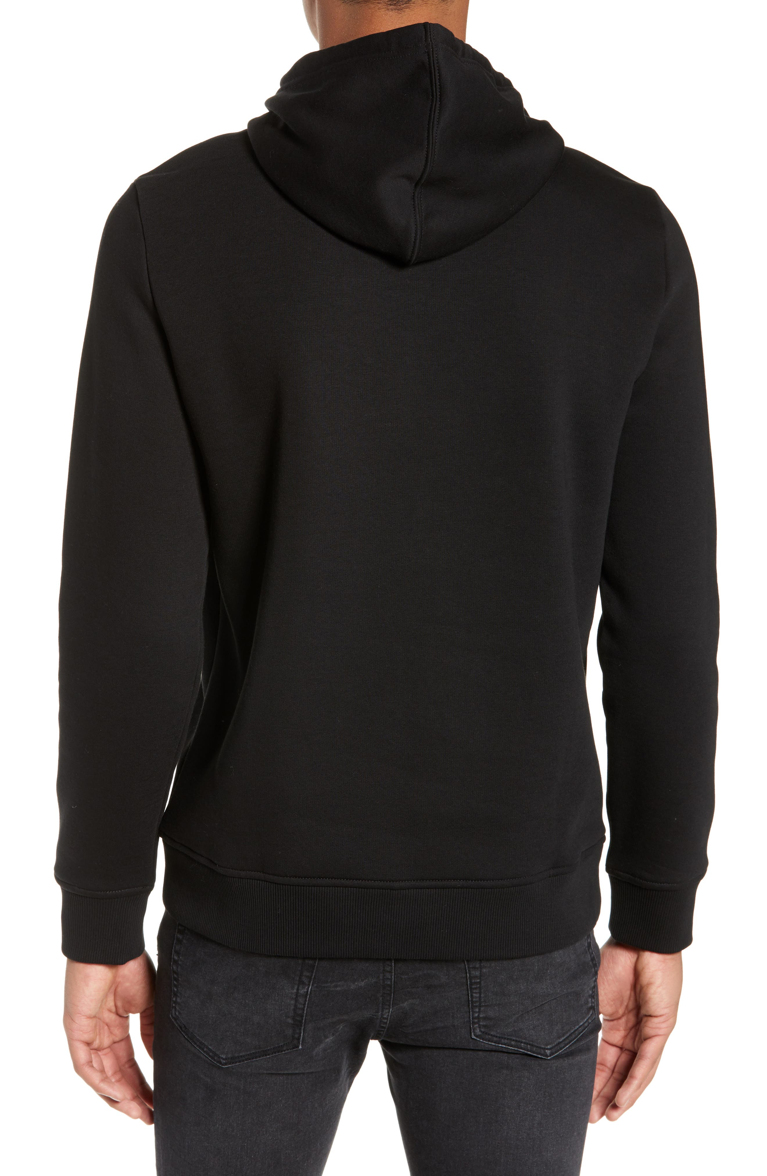 CALVIN KLEIN JEANS,                             Stacked Logo Hoodie,                             Alternate thumbnail 2, color,                             010