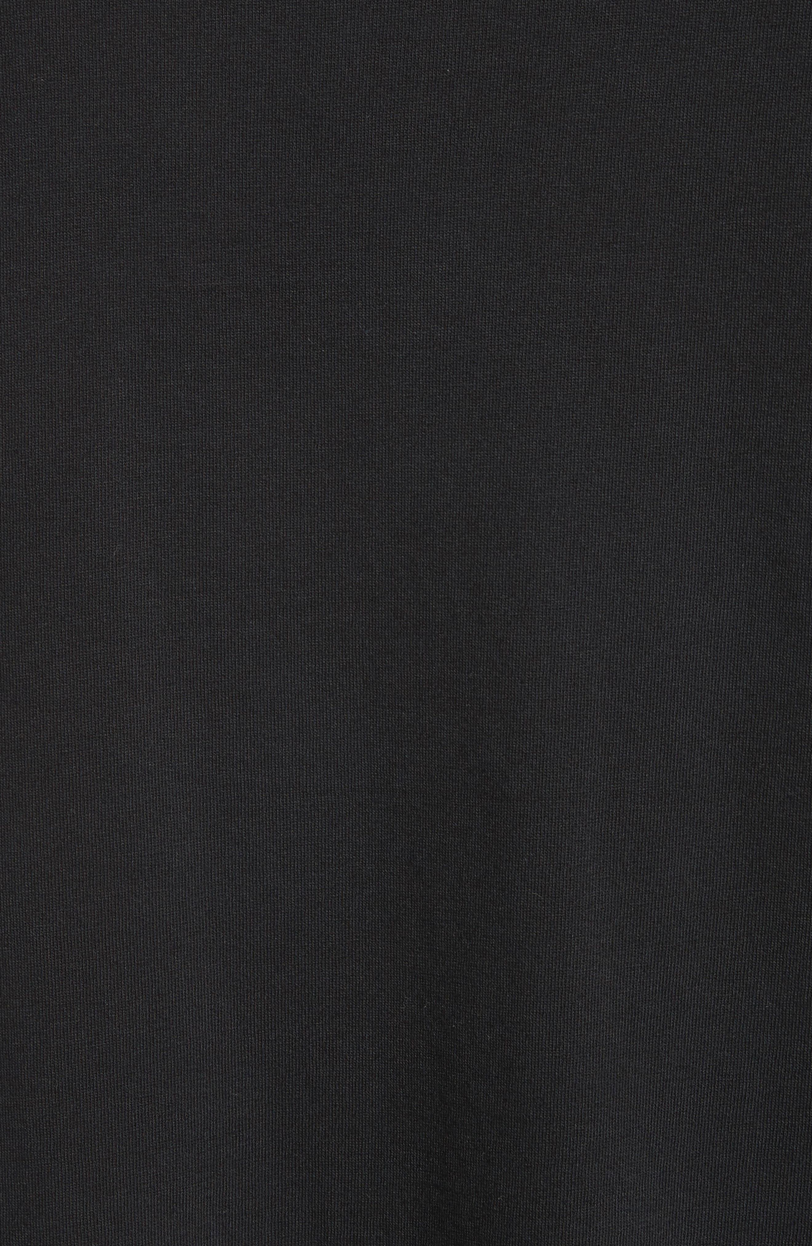 Long Sleeve Pocket T-Shirt,                             Alternate thumbnail 5, color,                             BLACK