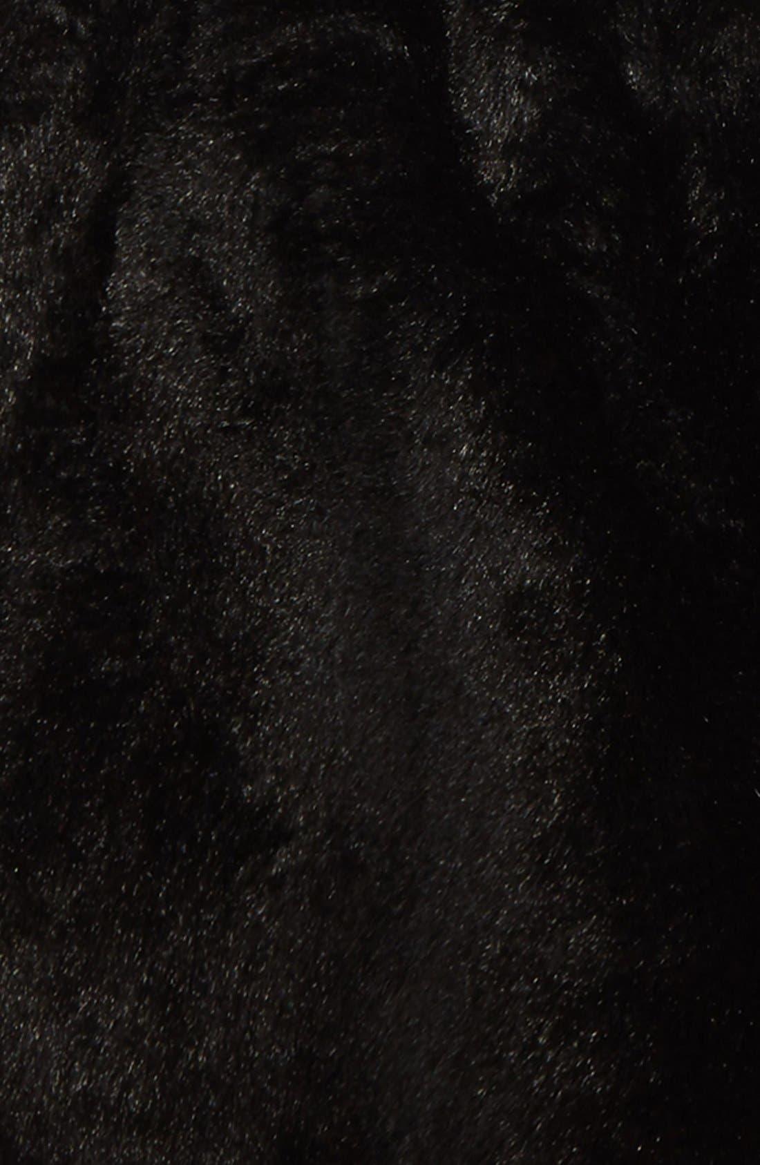 Faux Fur Capelet,                             Alternate thumbnail 4, color,