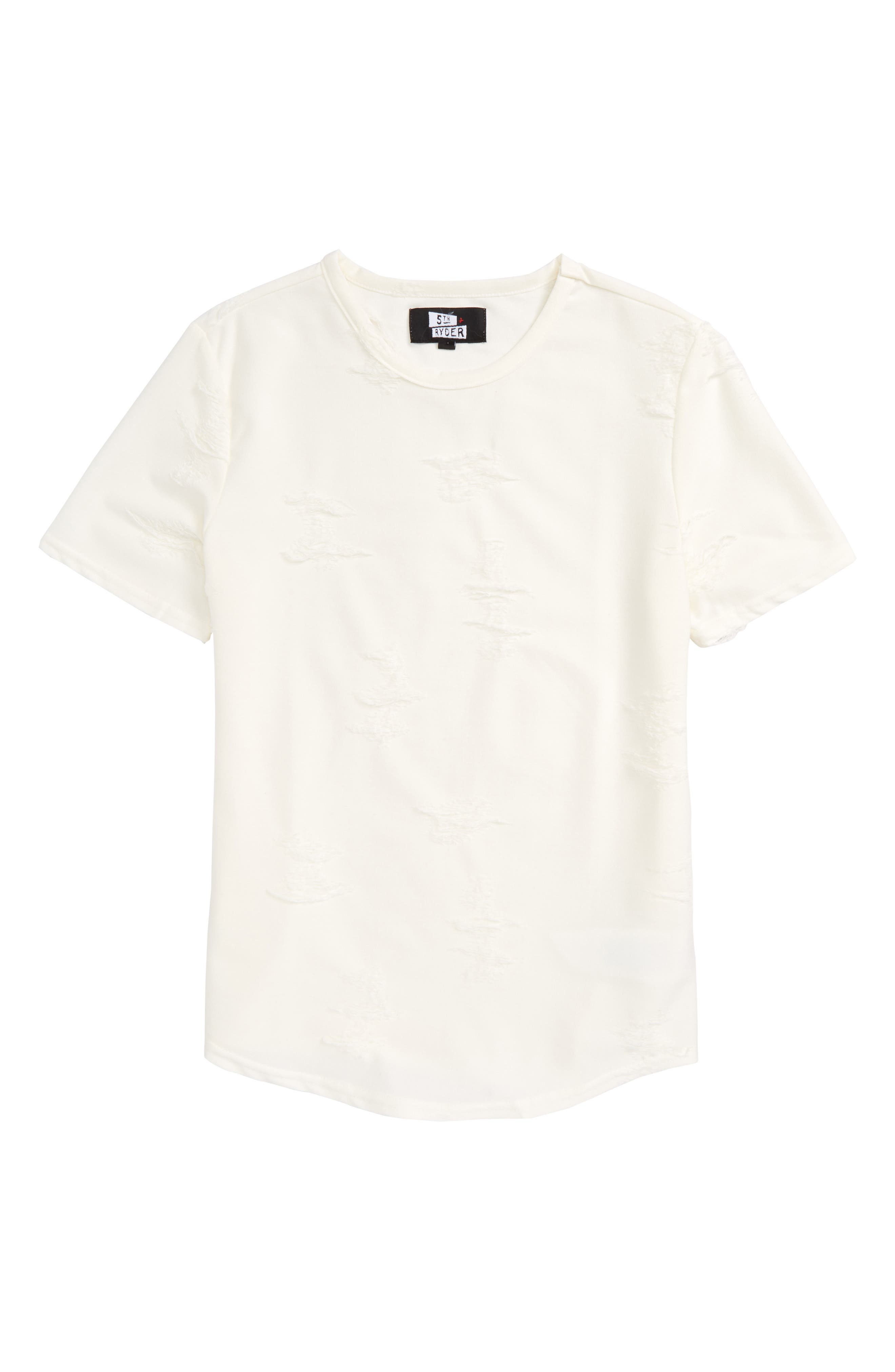 Curved Hem T-Shirt,                             Main thumbnail 1, color,                             100