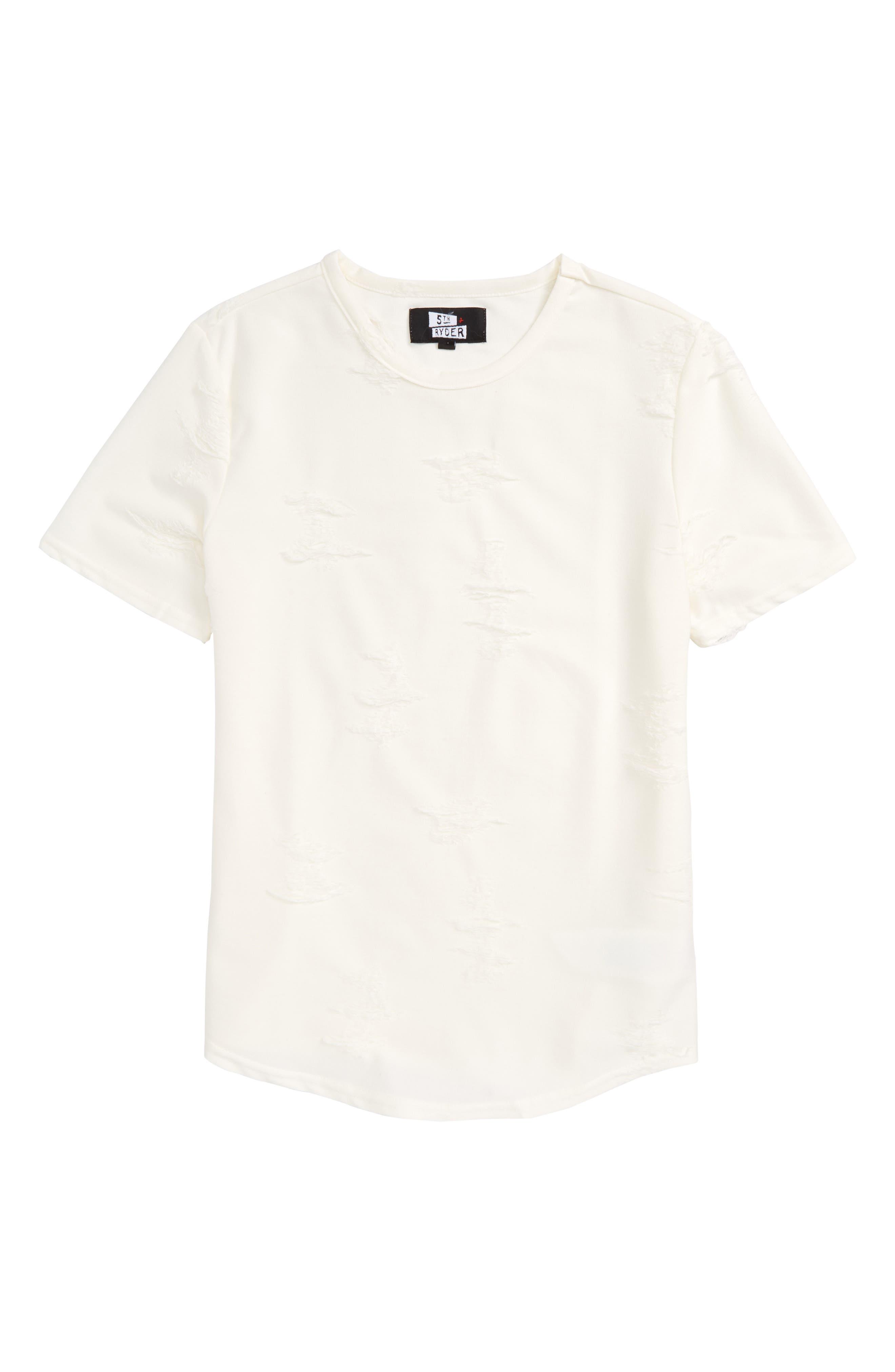 Curved Hem T-Shirt,                         Main,                         color, 100