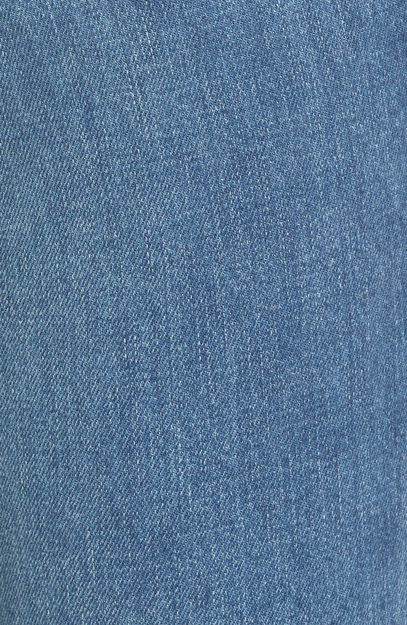 Le Crop Mini Boot Raw Hem Jeans,                             Alternate thumbnail 5, color,                             CLAPPSON