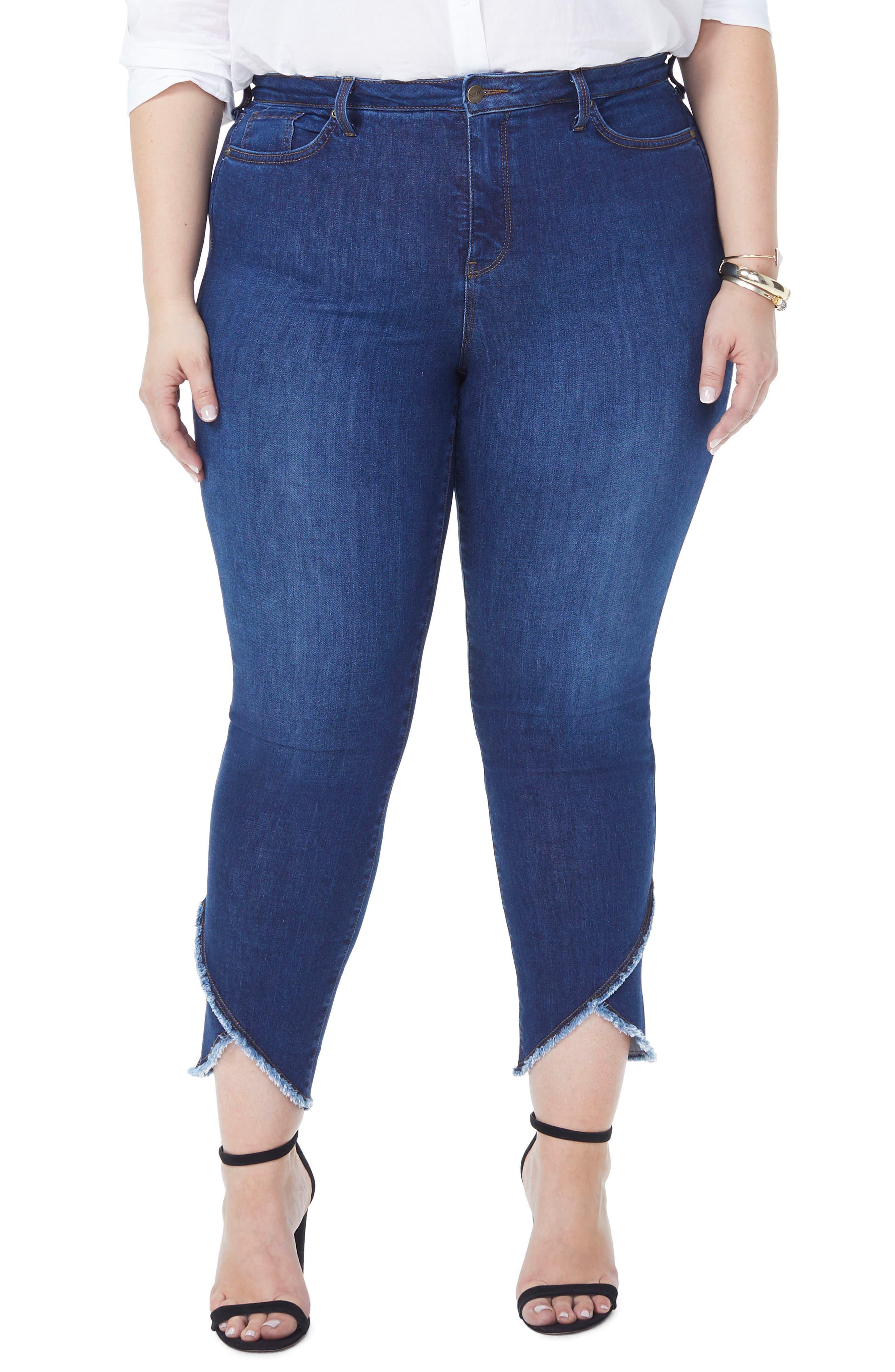 Sheri Envelope Hem Stretch Slim Ankle Jeans,                         Main,                         color, COOPER