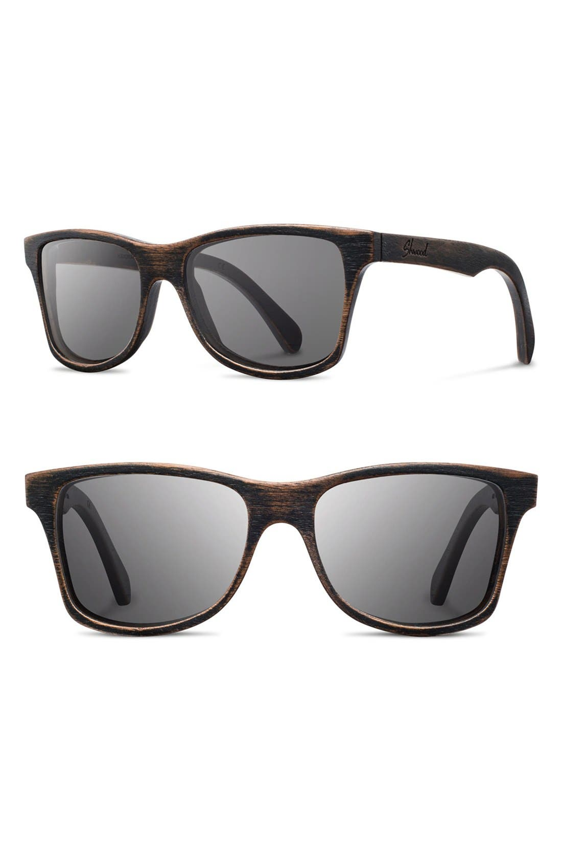 'Canby' 54mm Polarized Wood Sunglasses,                             Main thumbnail 1, color,                             002