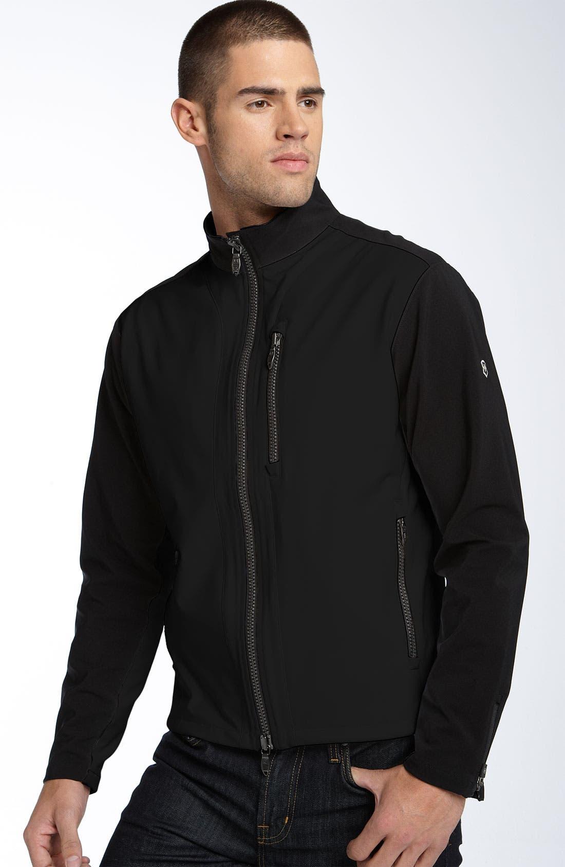 VICTORINOX SWISS ARMY<SUP>®</SUP>,                             Windproof Softshell Jacket,                             Main thumbnail 1, color,                             001