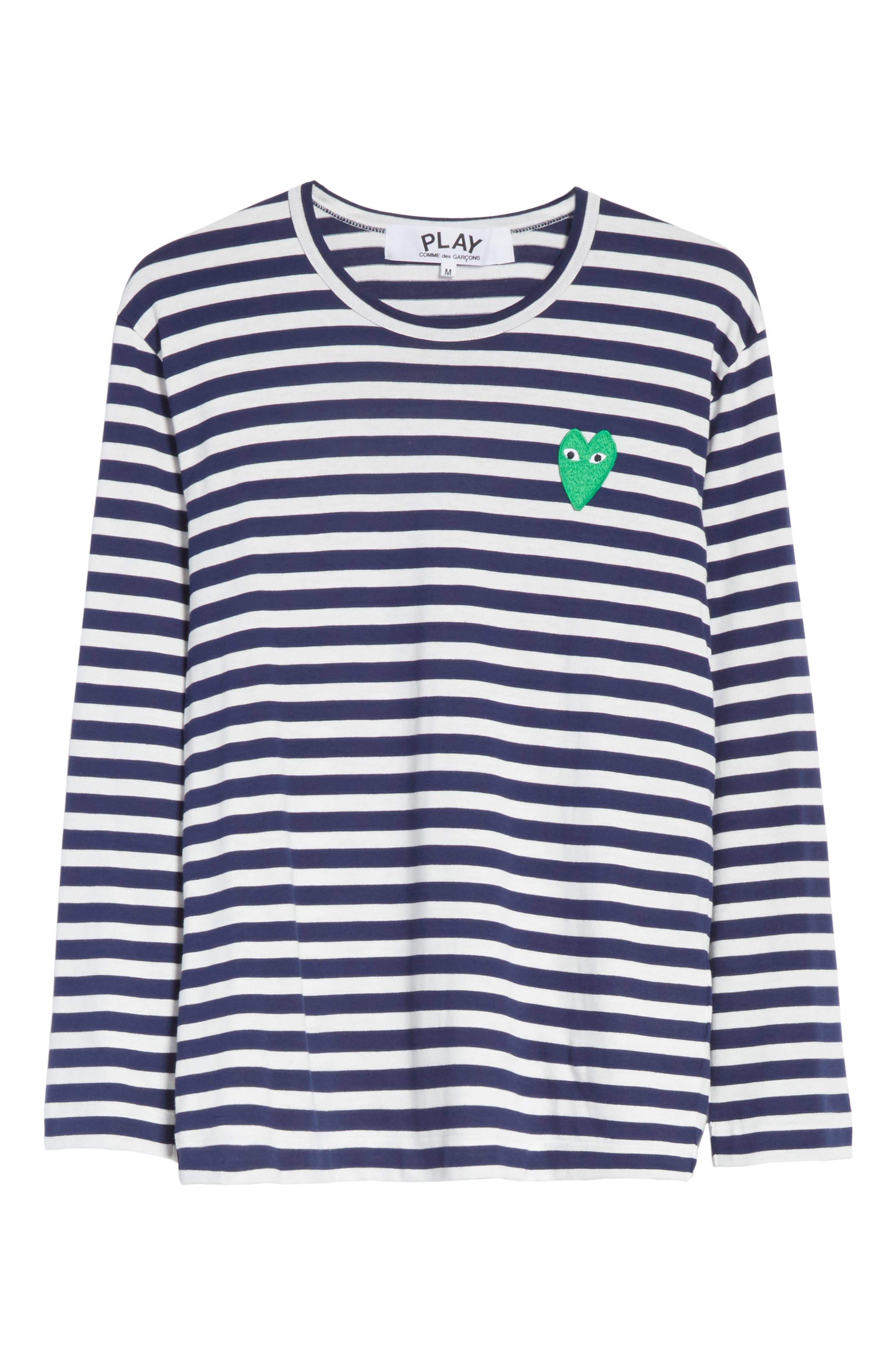 Stripe Long Sleeve T-Shirt,                             Alternate thumbnail 6, color,                             415