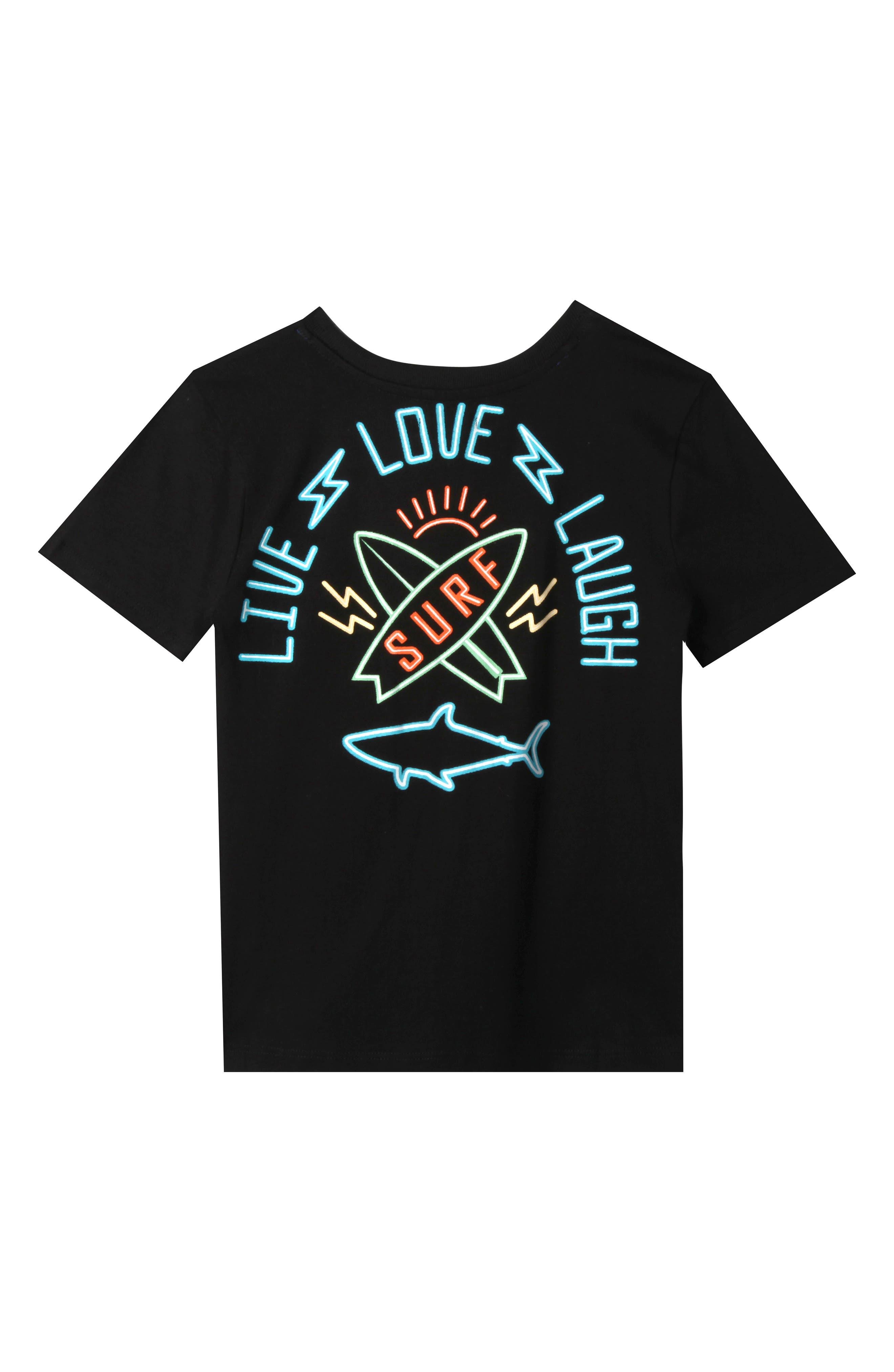 Dylan Graphic T-Shirt,                             Main thumbnail 1, color,                             BLACK
