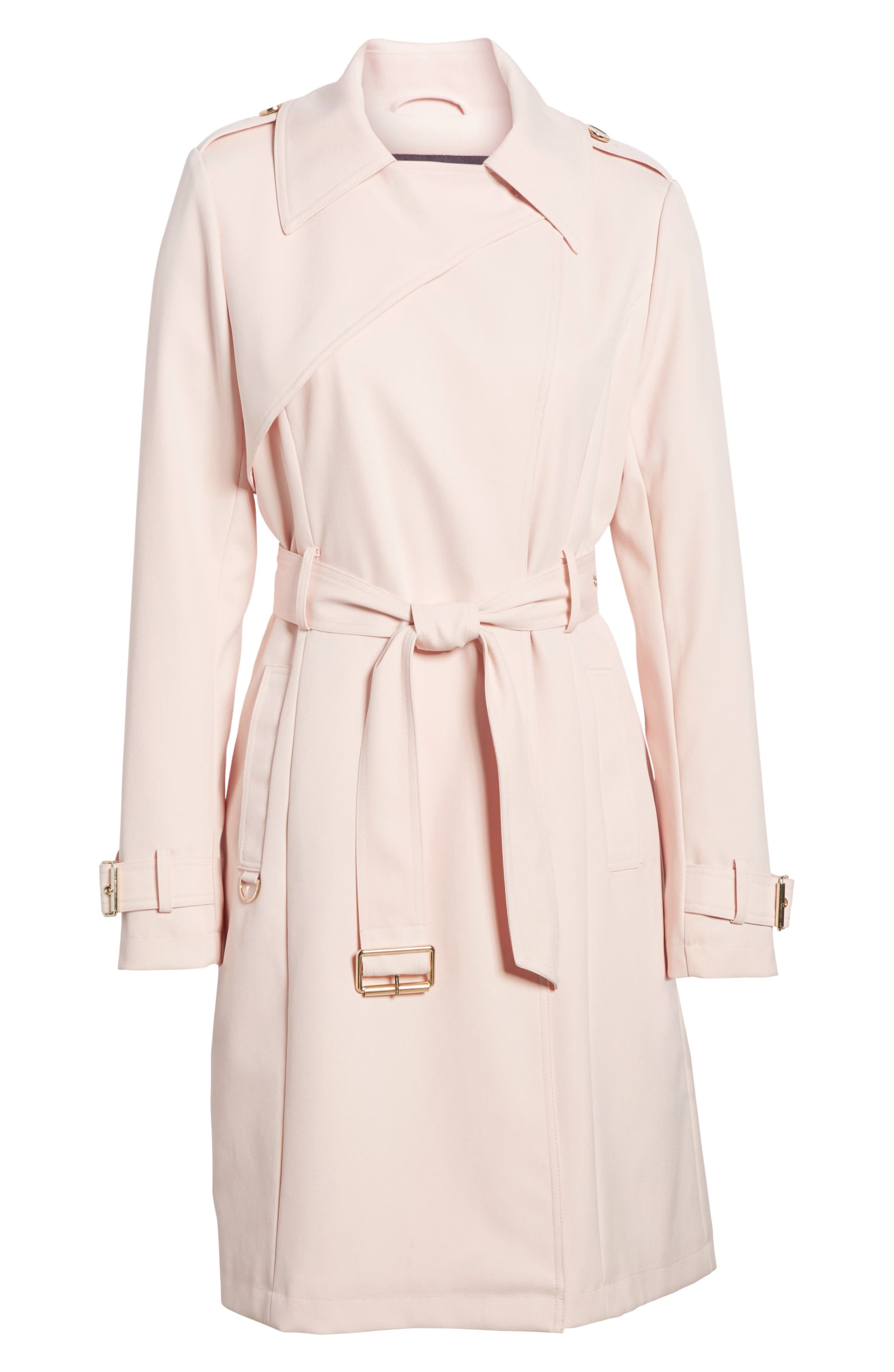 Flowy Belted Trench Coat,                             Alternate thumbnail 19, color,