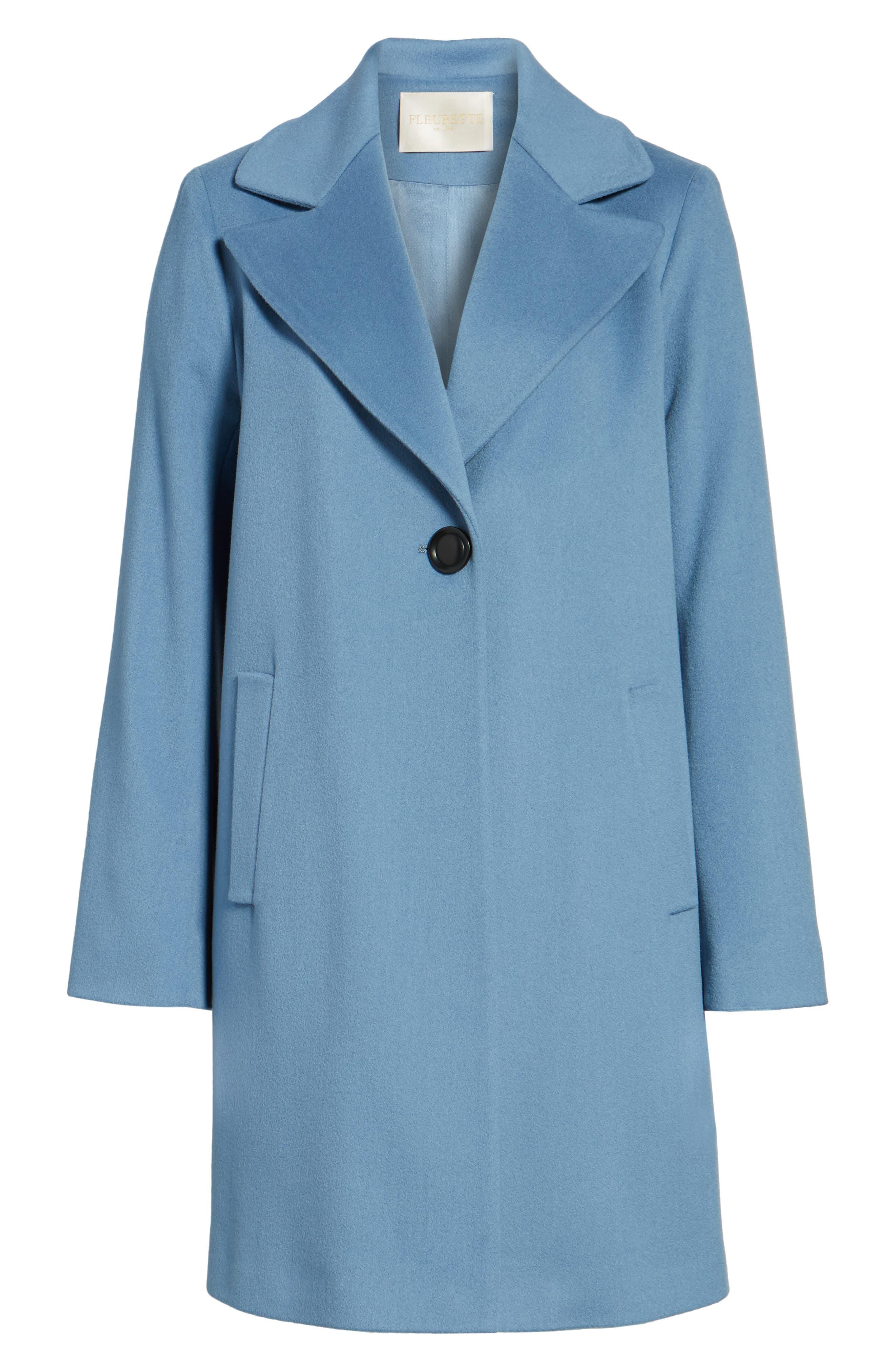 Single Button Wool Coat,                             Alternate thumbnail 5, color,                             425