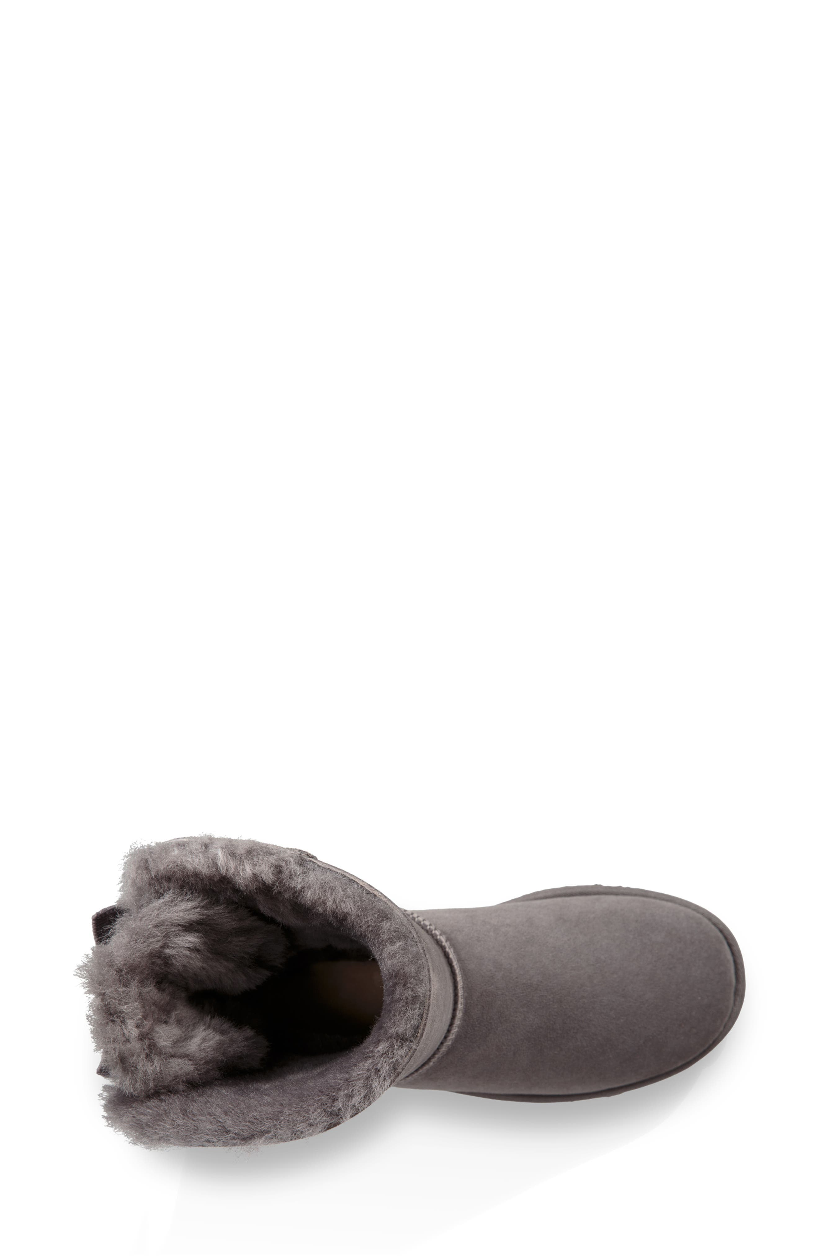 Bailey Bow Genuine Shearling Bootie,                             Alternate thumbnail 4, color,                             020