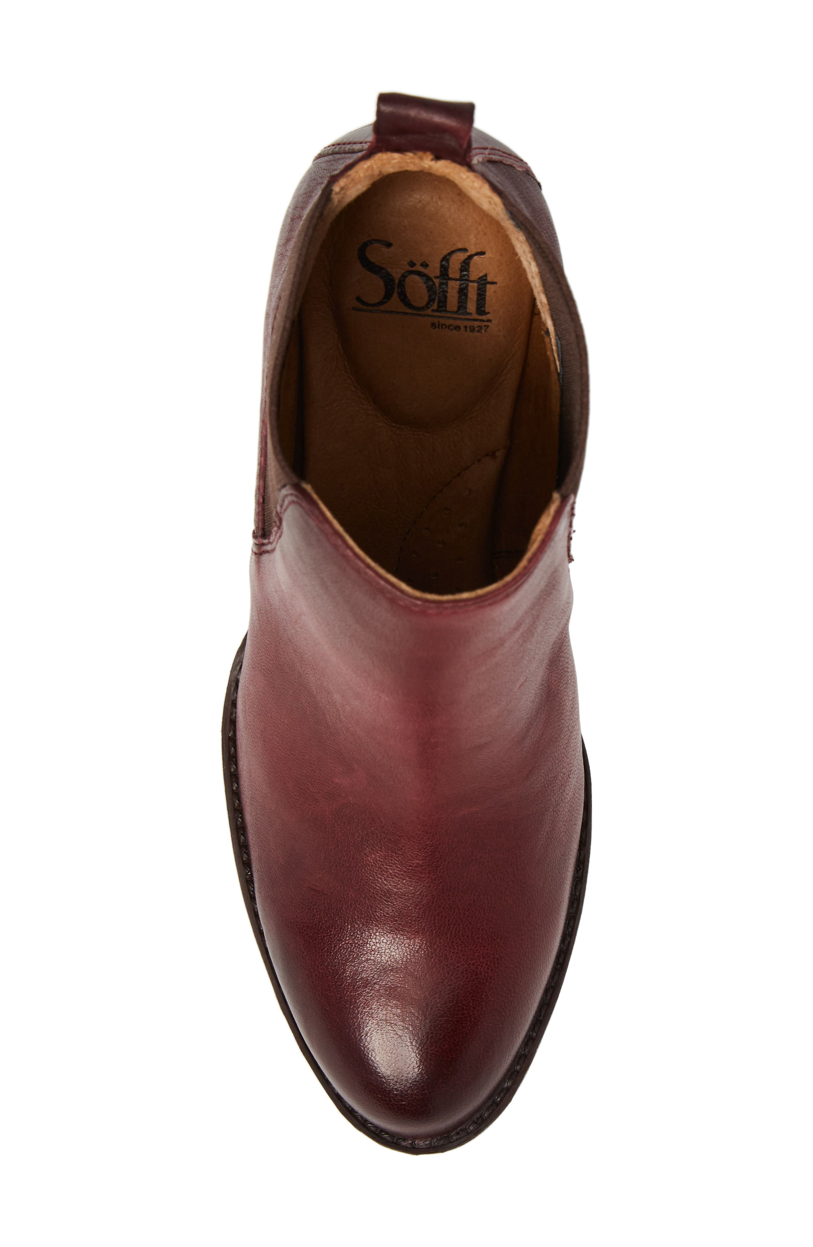 Welling Bootie,                             Alternate thumbnail 5, color,                             WINE RED LEATHER