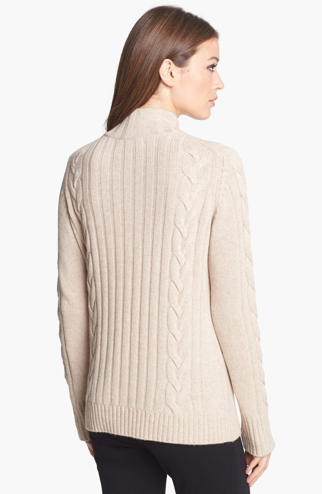 Chunky Cable Cashmere Cardigan,                             Alternate thumbnail 6, color,