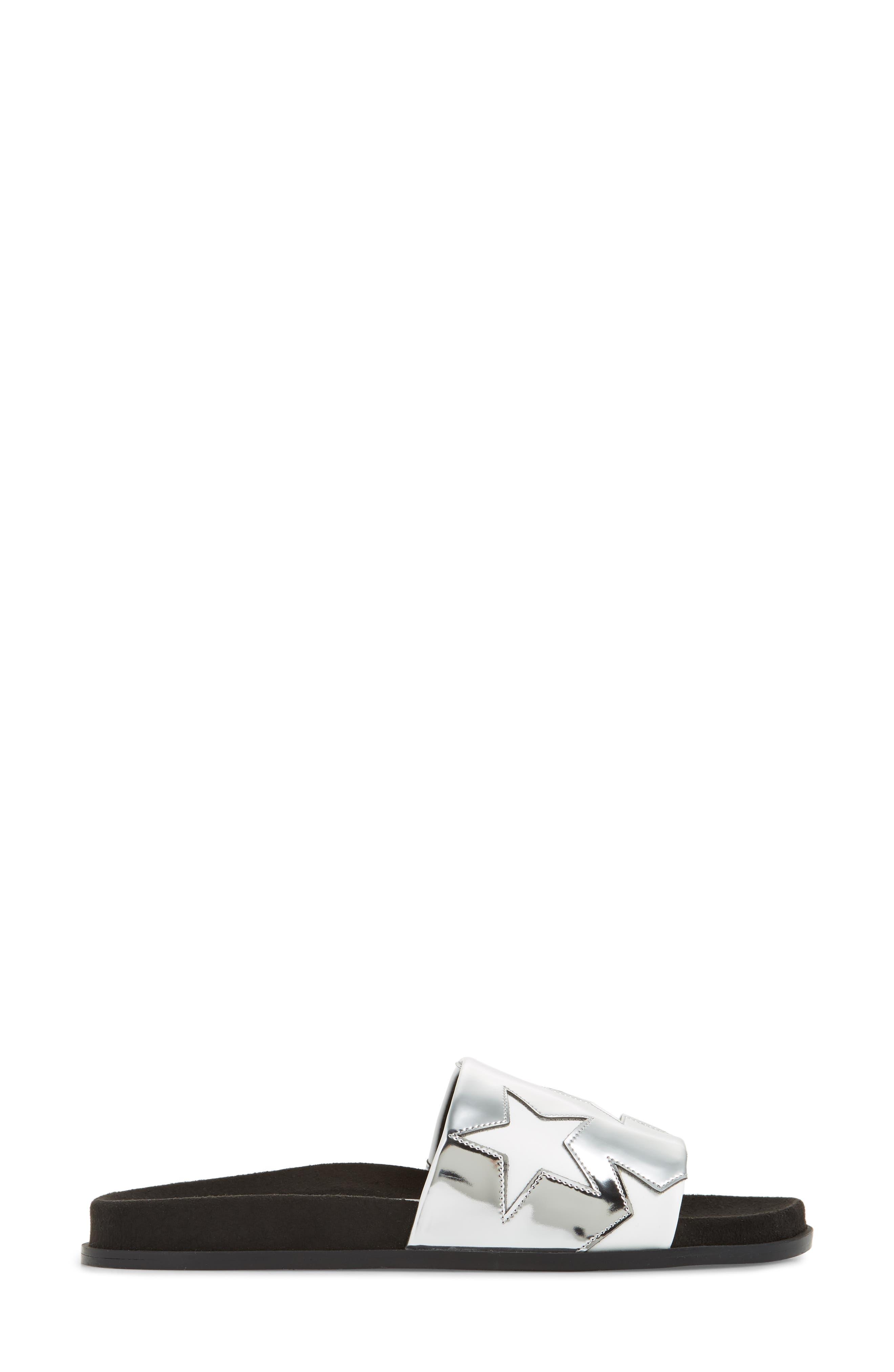 STELLA MCCARTNEY,                             Star Slide Sandal,                             Alternate thumbnail 3, color,                             041
