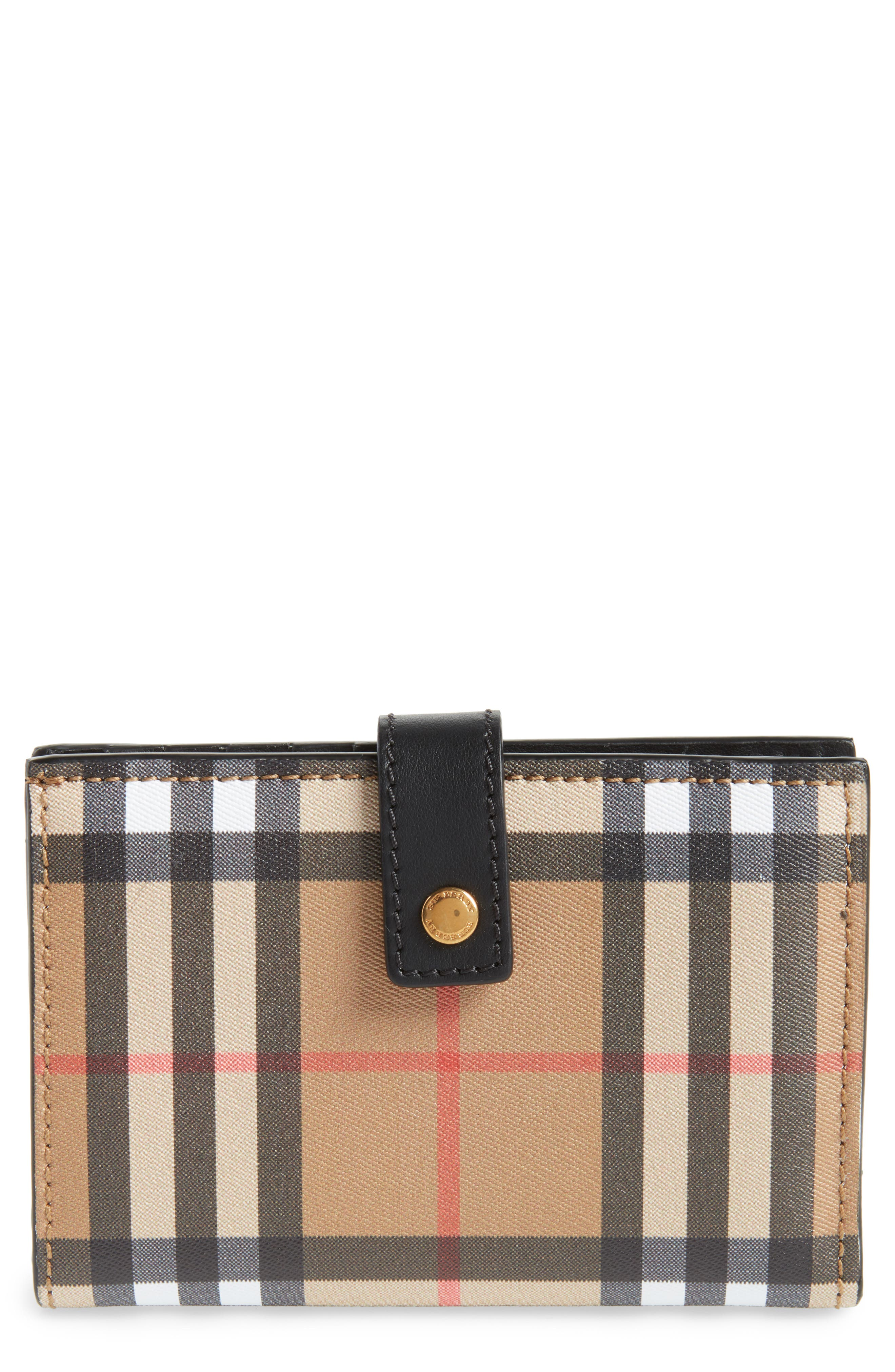 Marylebone Check Wallet,                         Main,                         color, 001