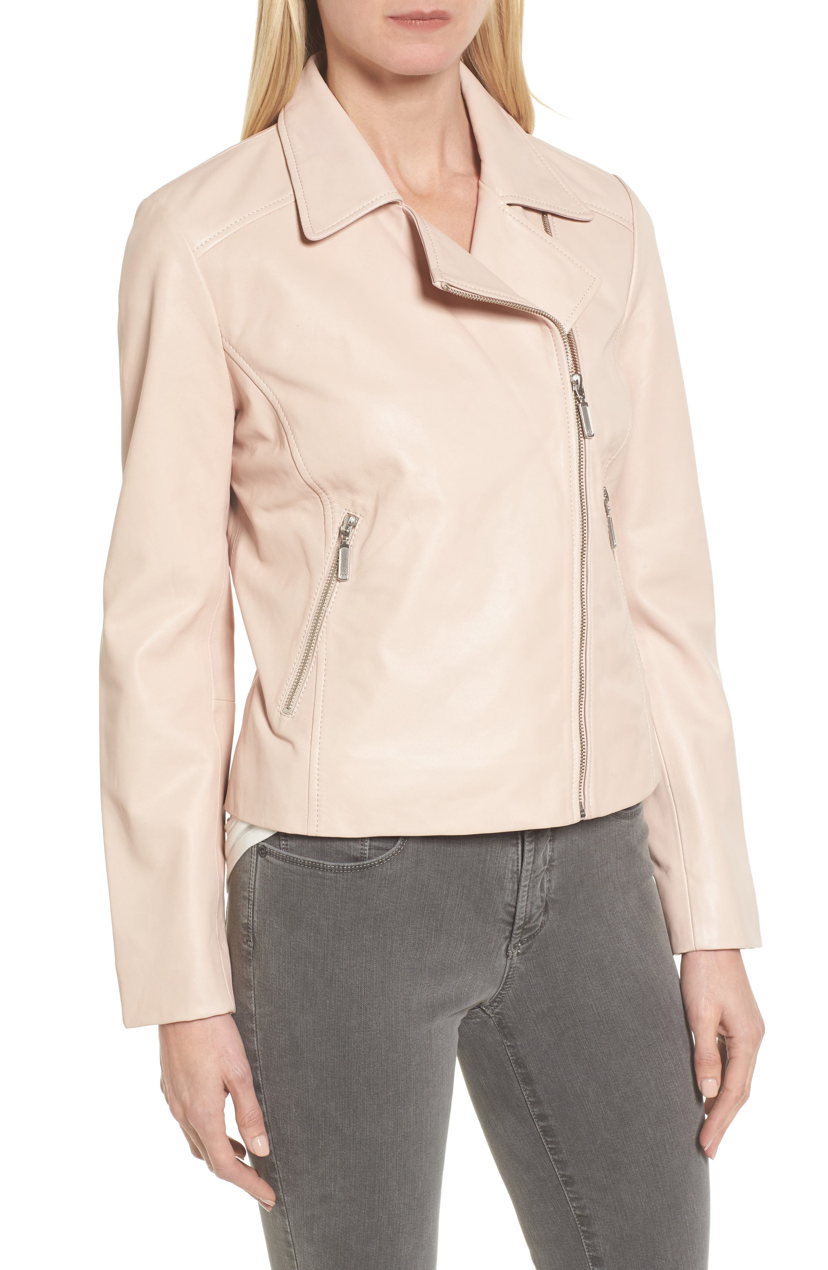 Leather Moto Jacket,                             Alternate thumbnail 14, color,