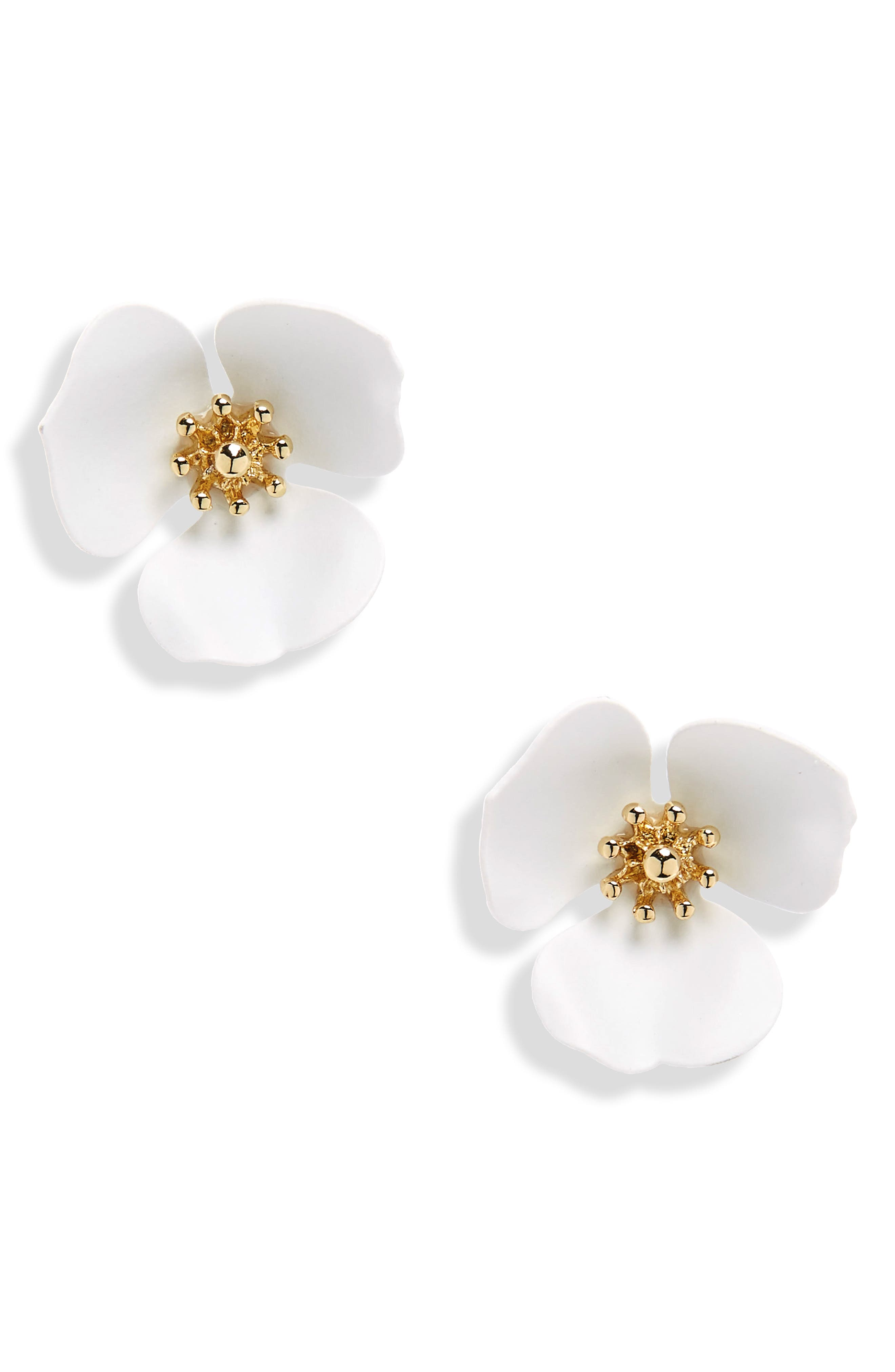 Lily Flower Stud Earrings,                             Main thumbnail 2, color,
