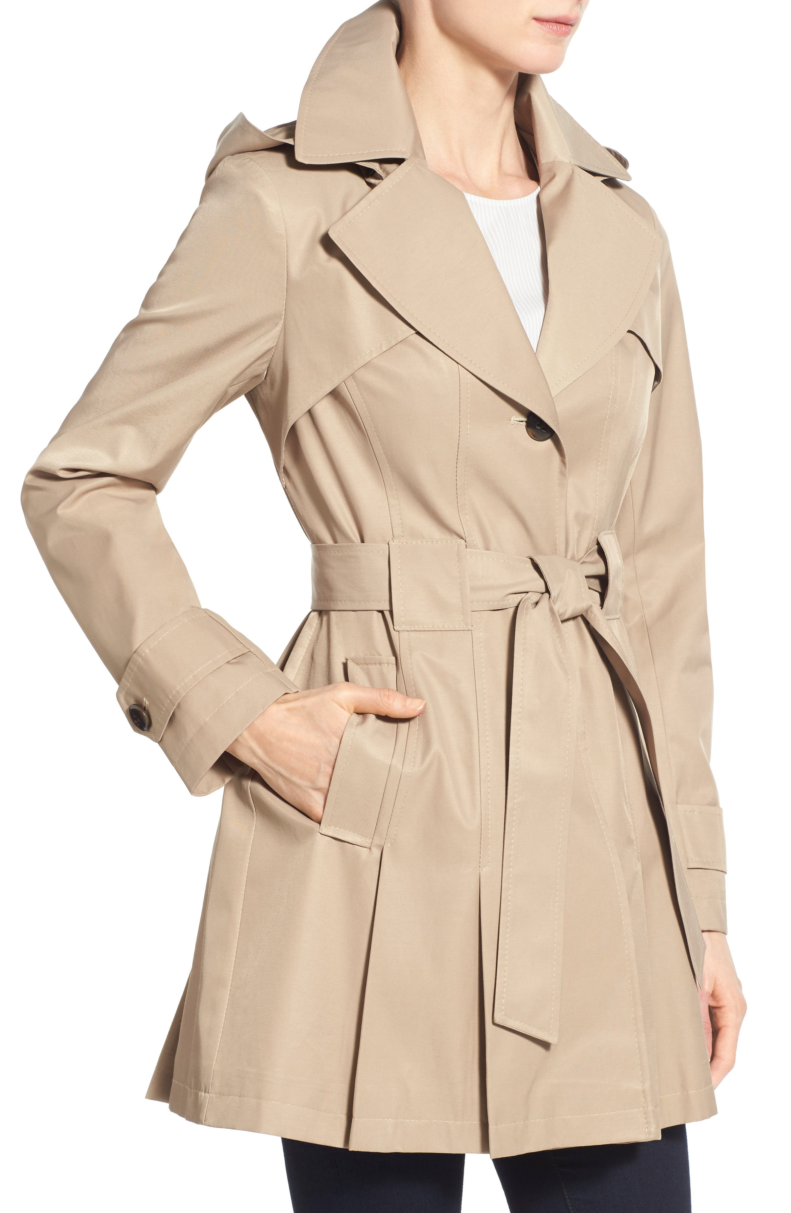 'Scarpa' Hooded Single Breasted Trench Coat,                             Alternate thumbnail 36, color,