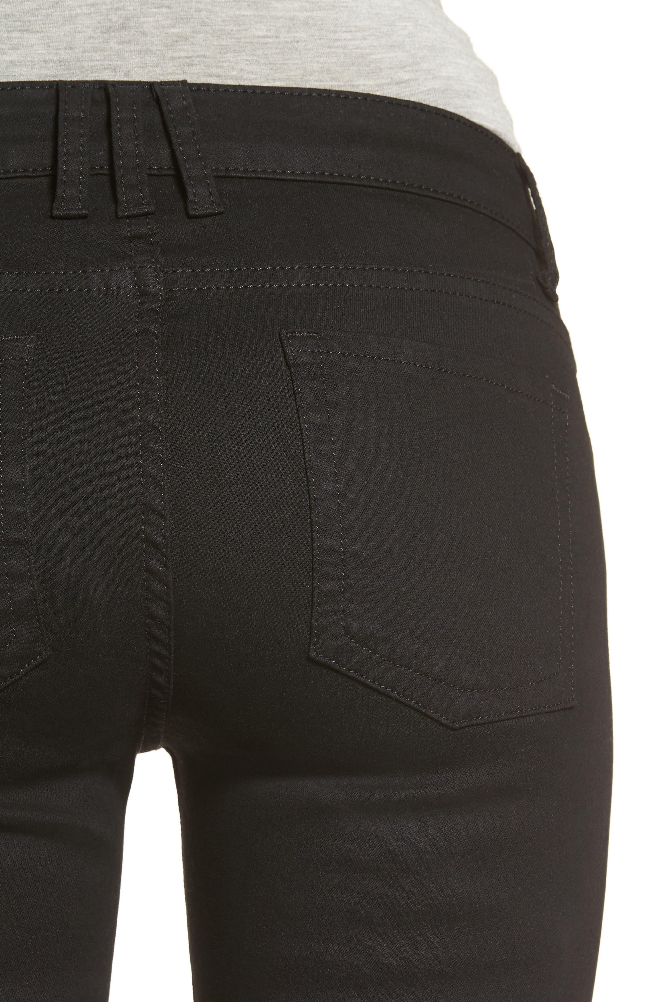 Natalie Stretch Bootleg Jeans,                             Alternate thumbnail 4, color,                             002