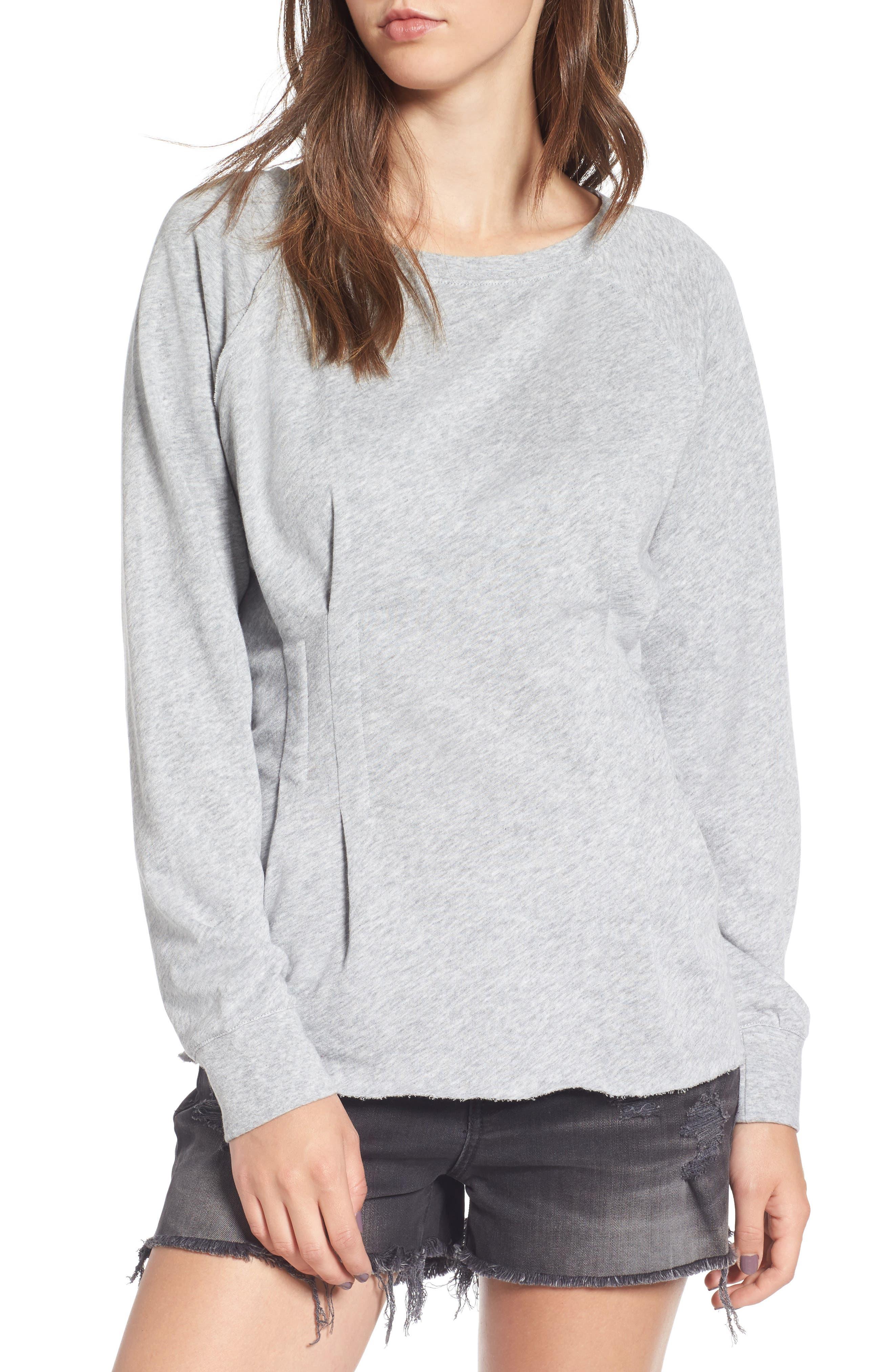 Cinch Waist Sweatshirt,                             Main thumbnail 1, color,                             020