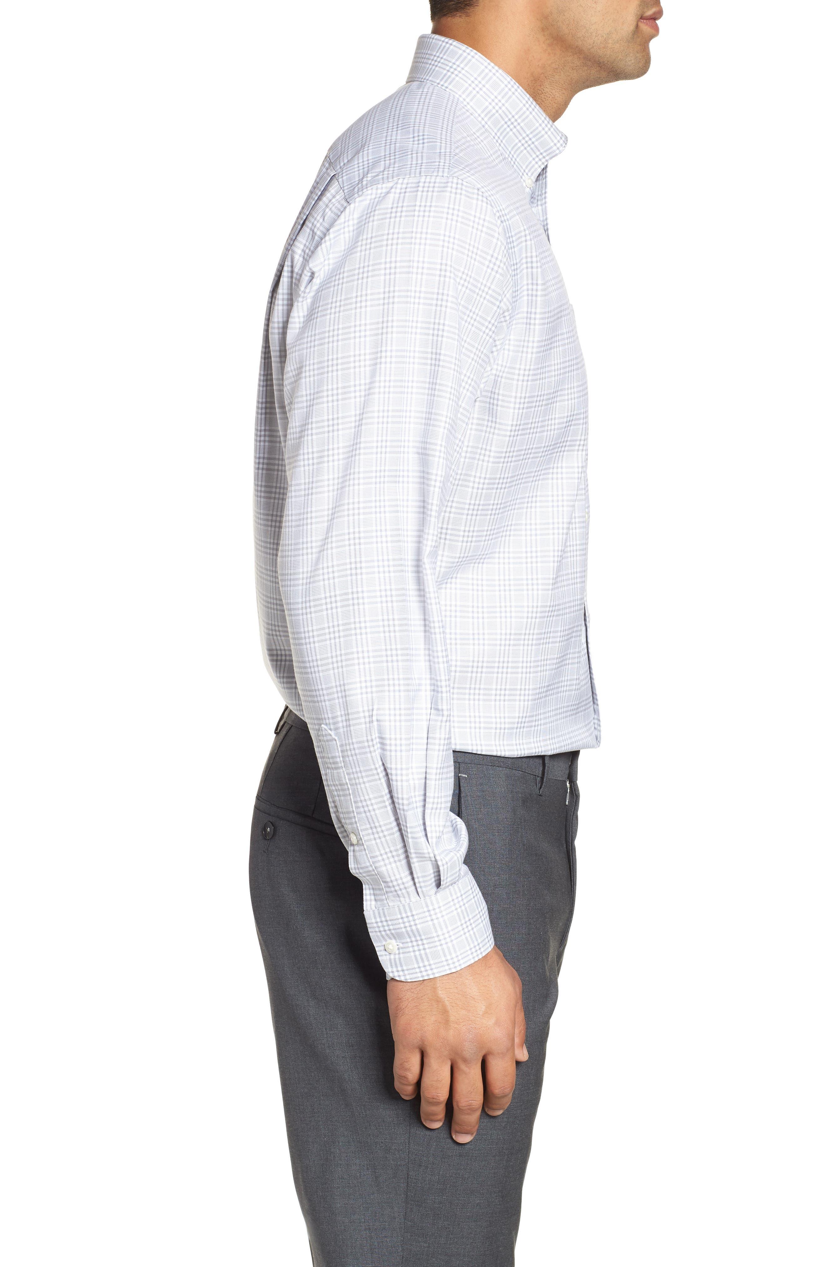 Smartcare<sup>™</sup> Classic Fit Plaid Dress Shirt,                             Alternate thumbnail 4, color,                             050