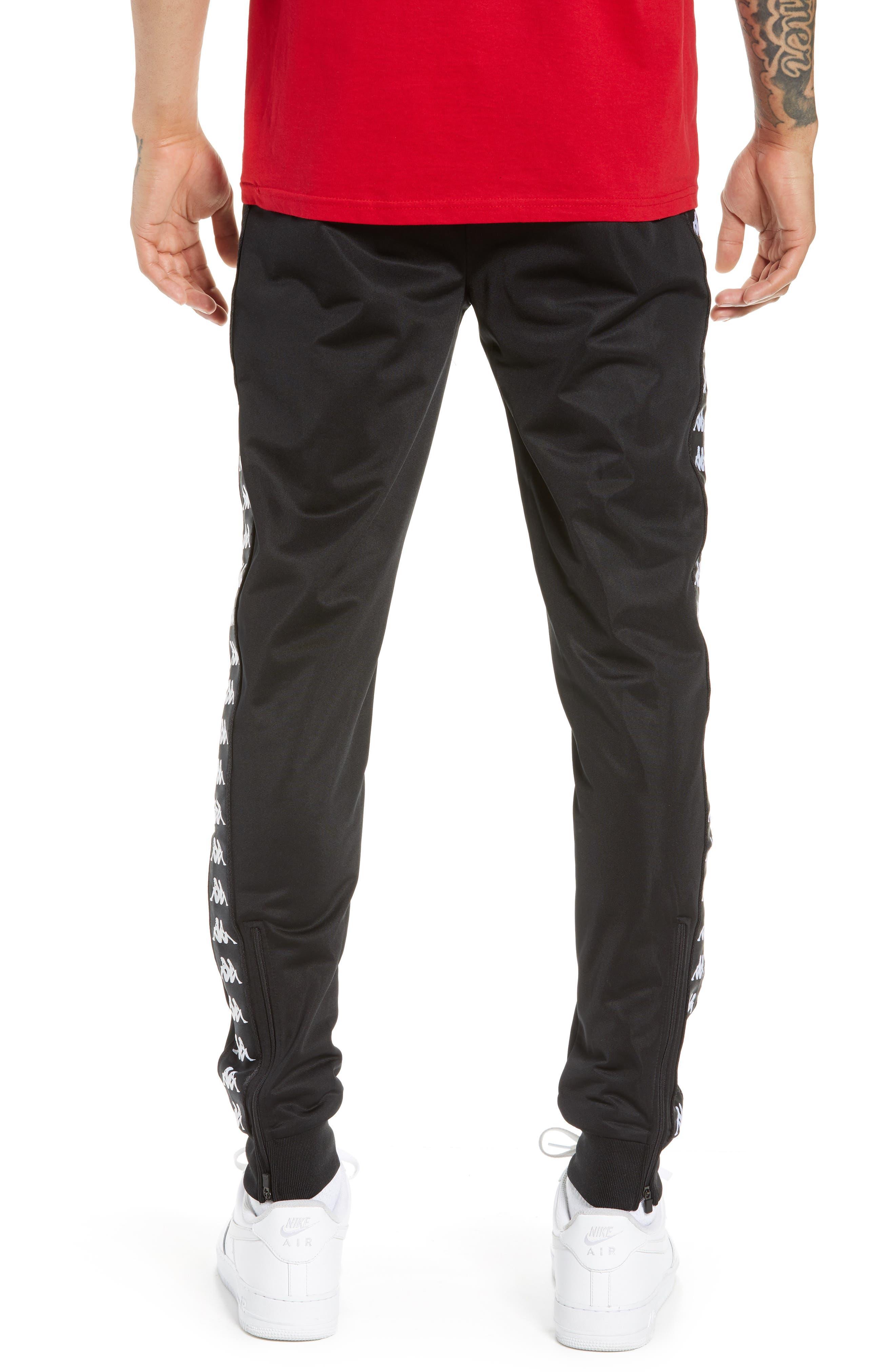 Active Banded Track Pants,                             Alternate thumbnail 2, color,                             BLACK/ BLACK