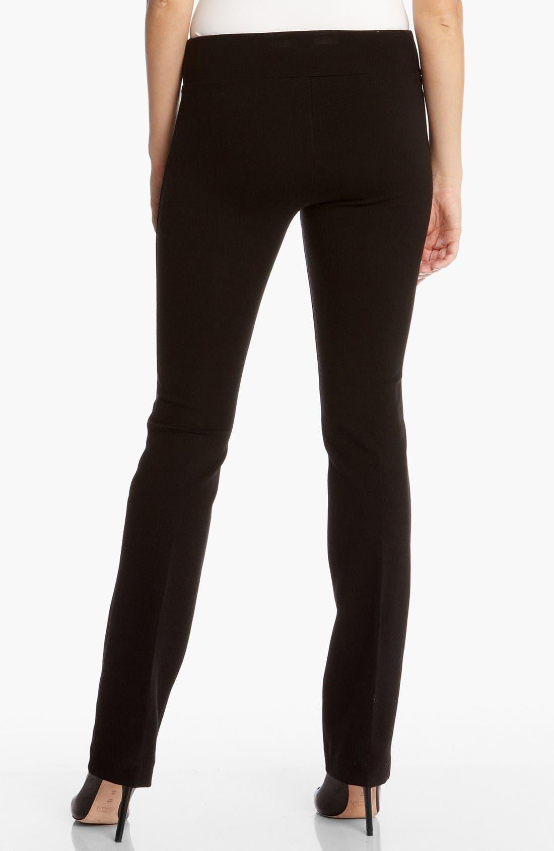 Ponte Knit Pants,                             Alternate thumbnail 2, color,                             BLACK