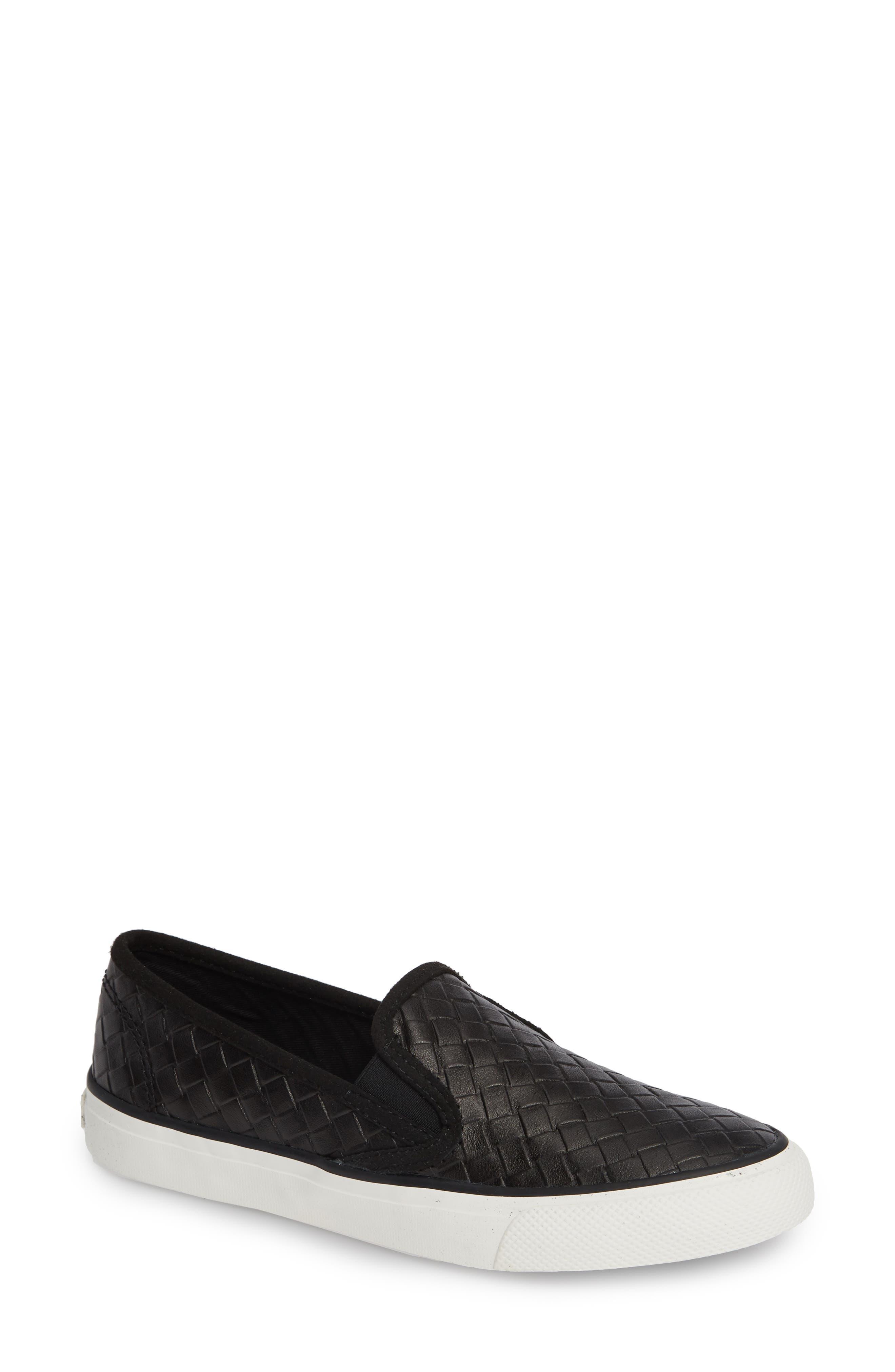 Seaside Embossed Weave Slip-On Sneaker,                         Main,                         color, 001