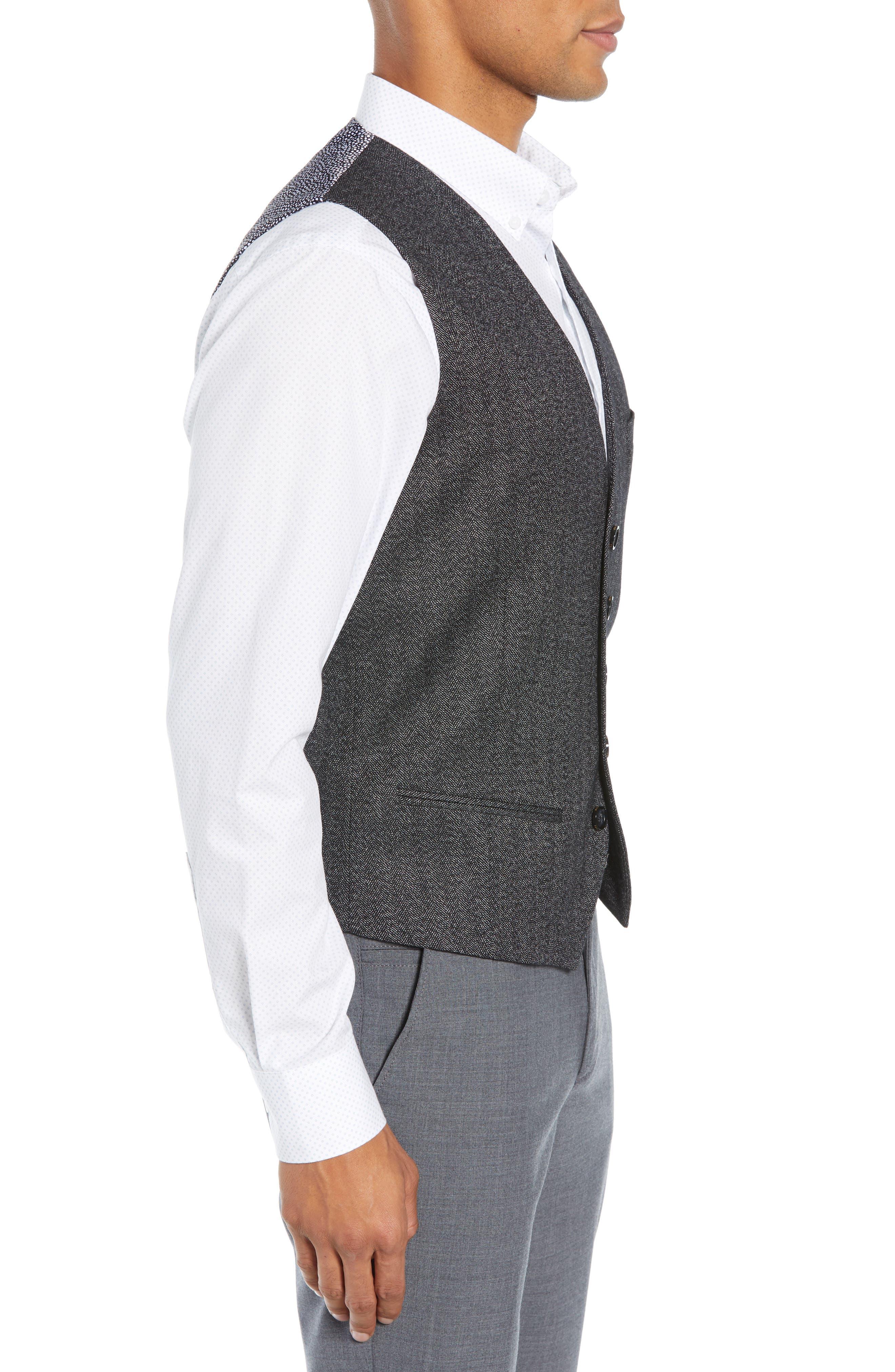 Wenswai Slim Vest,                             Alternate thumbnail 3, color,                             CHARCOAL