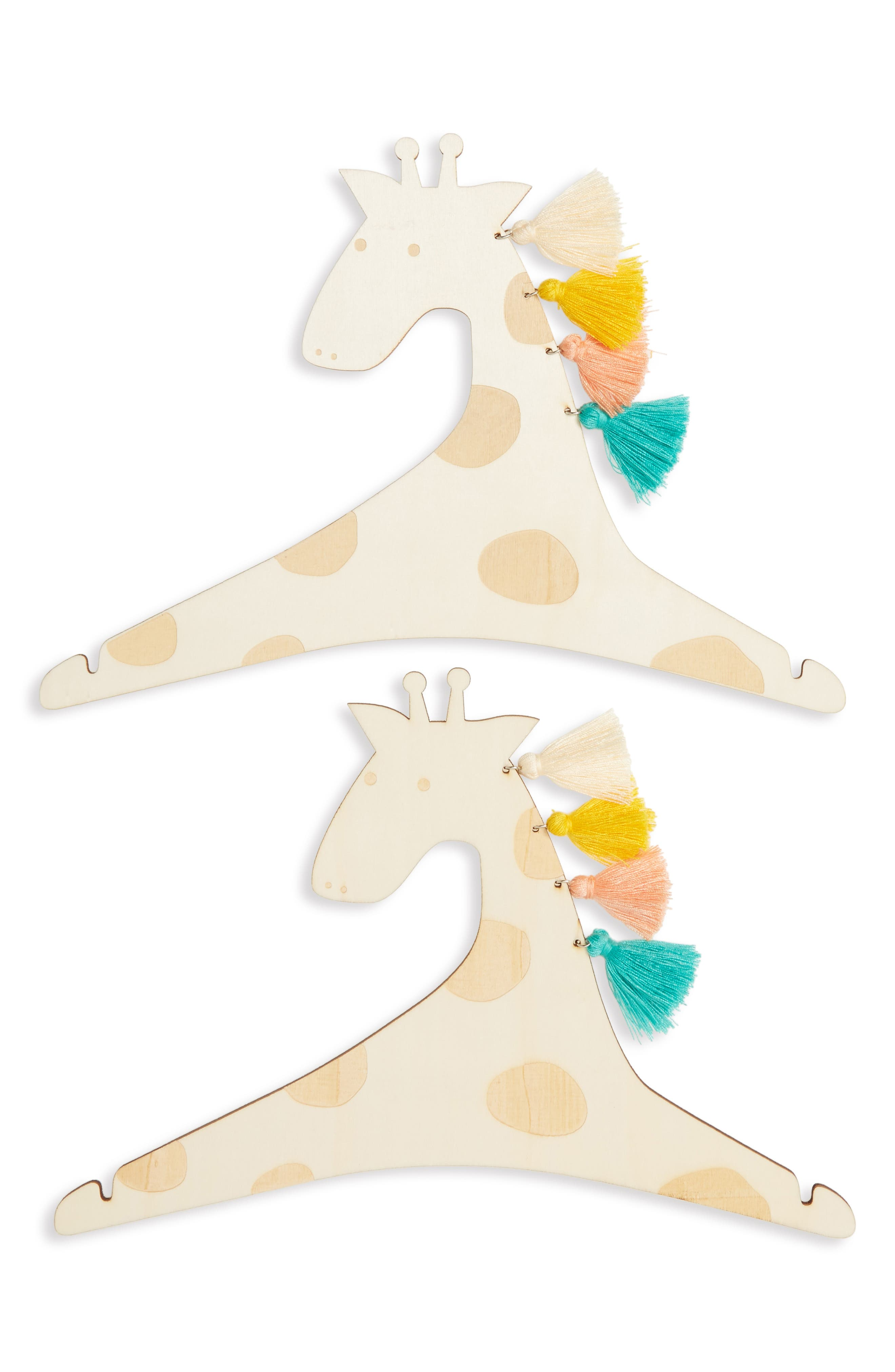 Set of 2 Giraffe Hangers,                         Main,                         color, 250