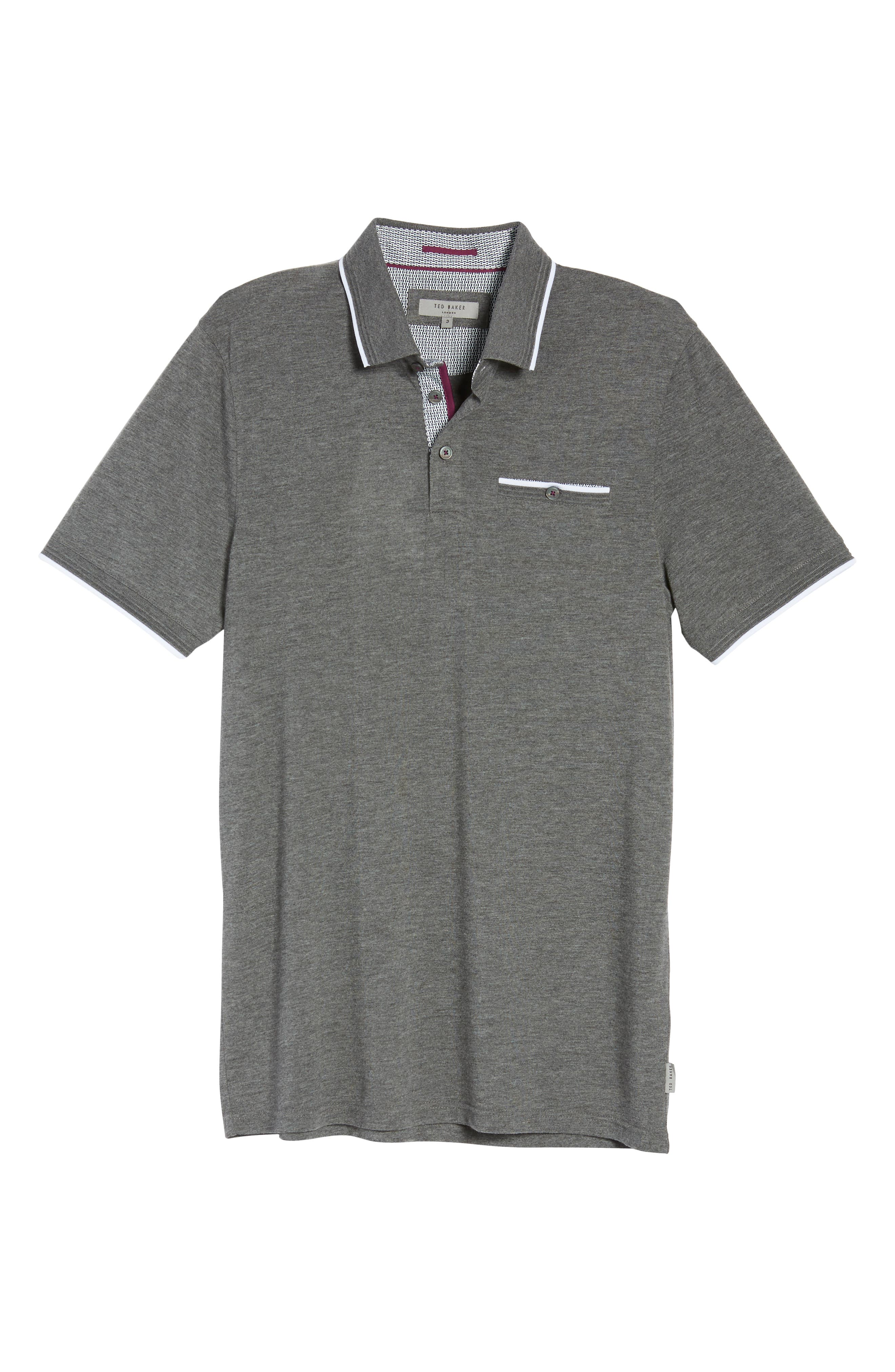 Derry Modern Slim Fit Polo,                             Alternate thumbnail 6, color,                             021