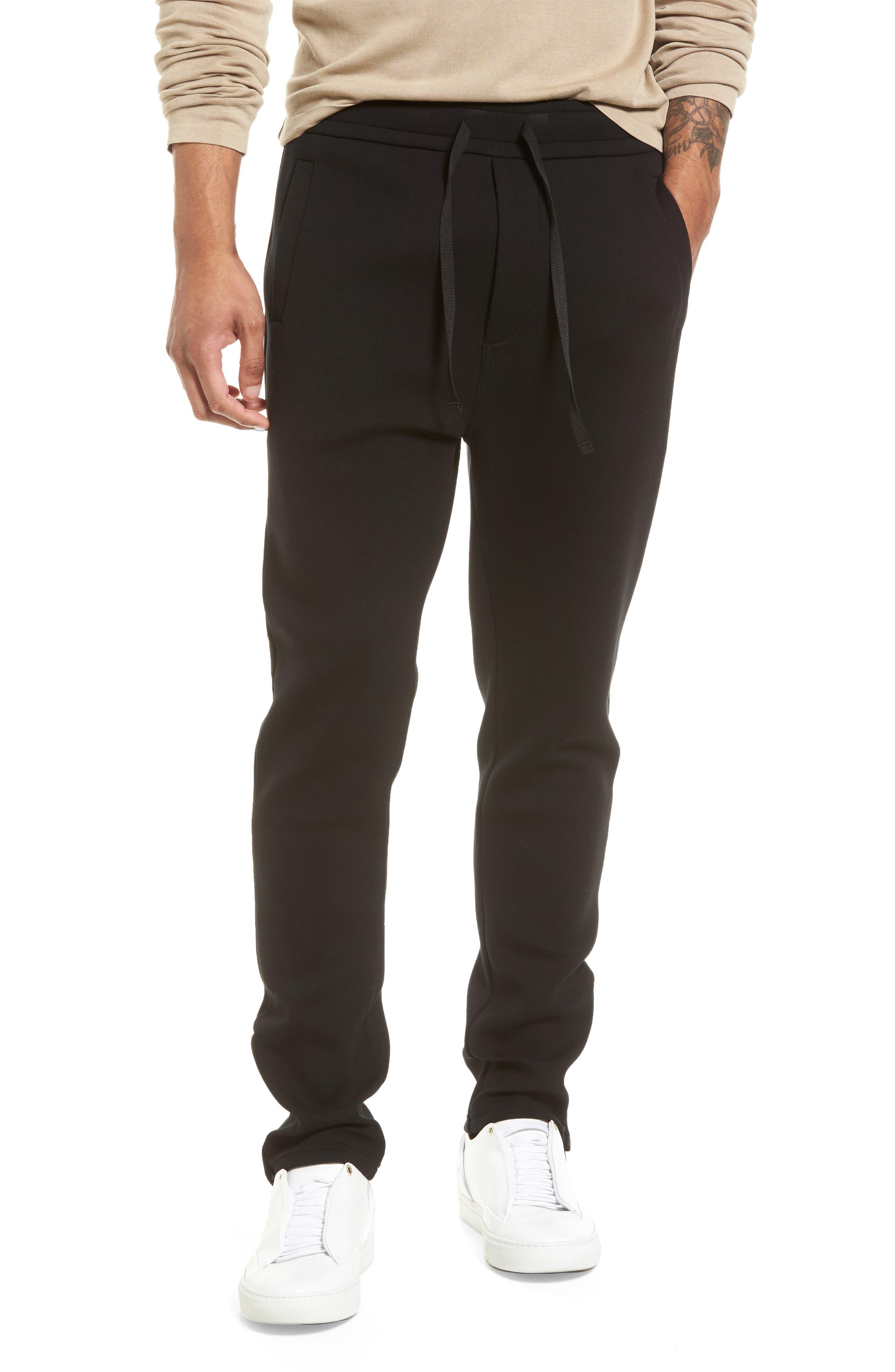 VINCE Tech Slim Fit Track Pants, Main, color, 001