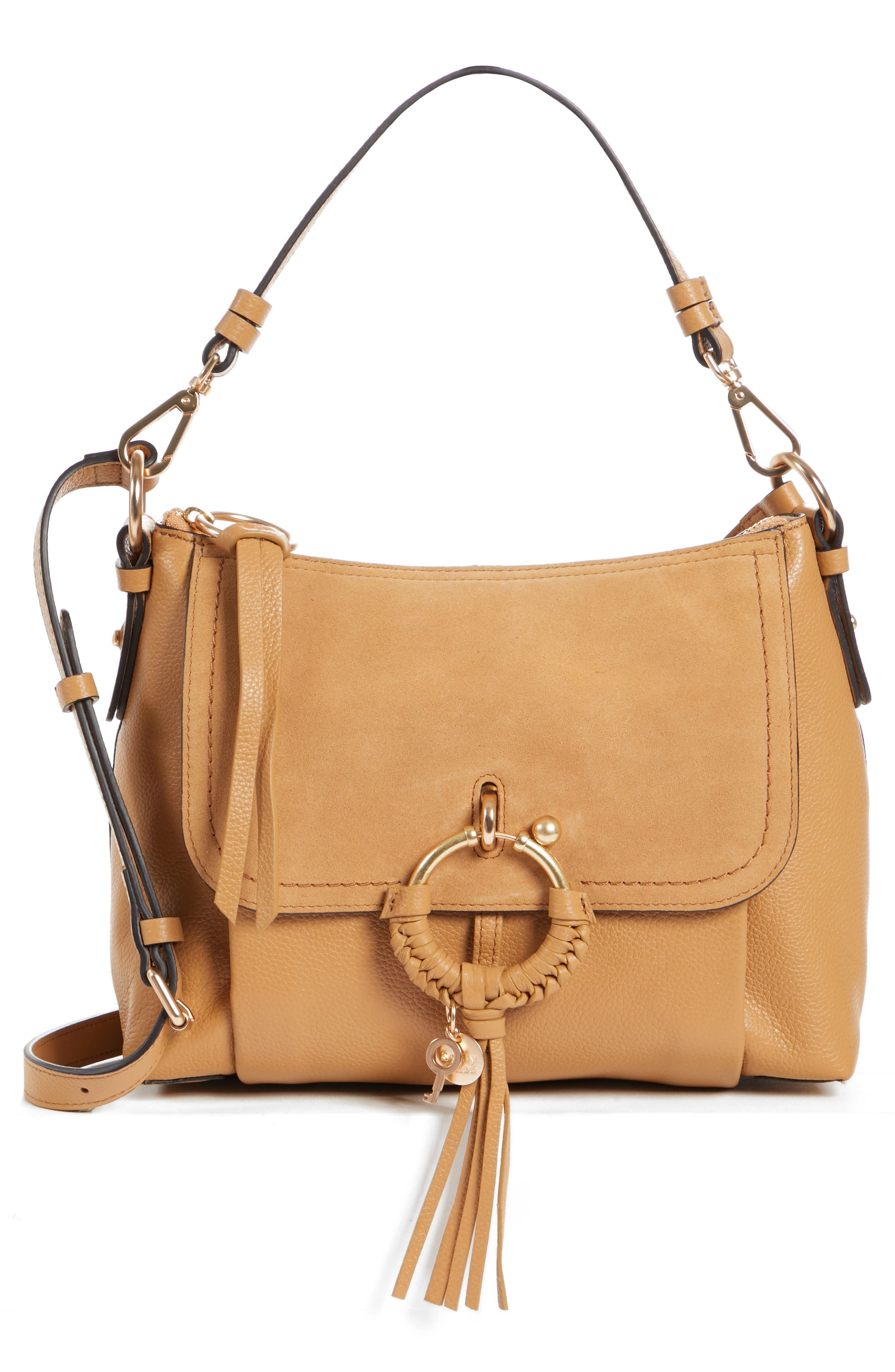 See By Chloe Small Joan Suede & Leather Crossbody Bag - Brown