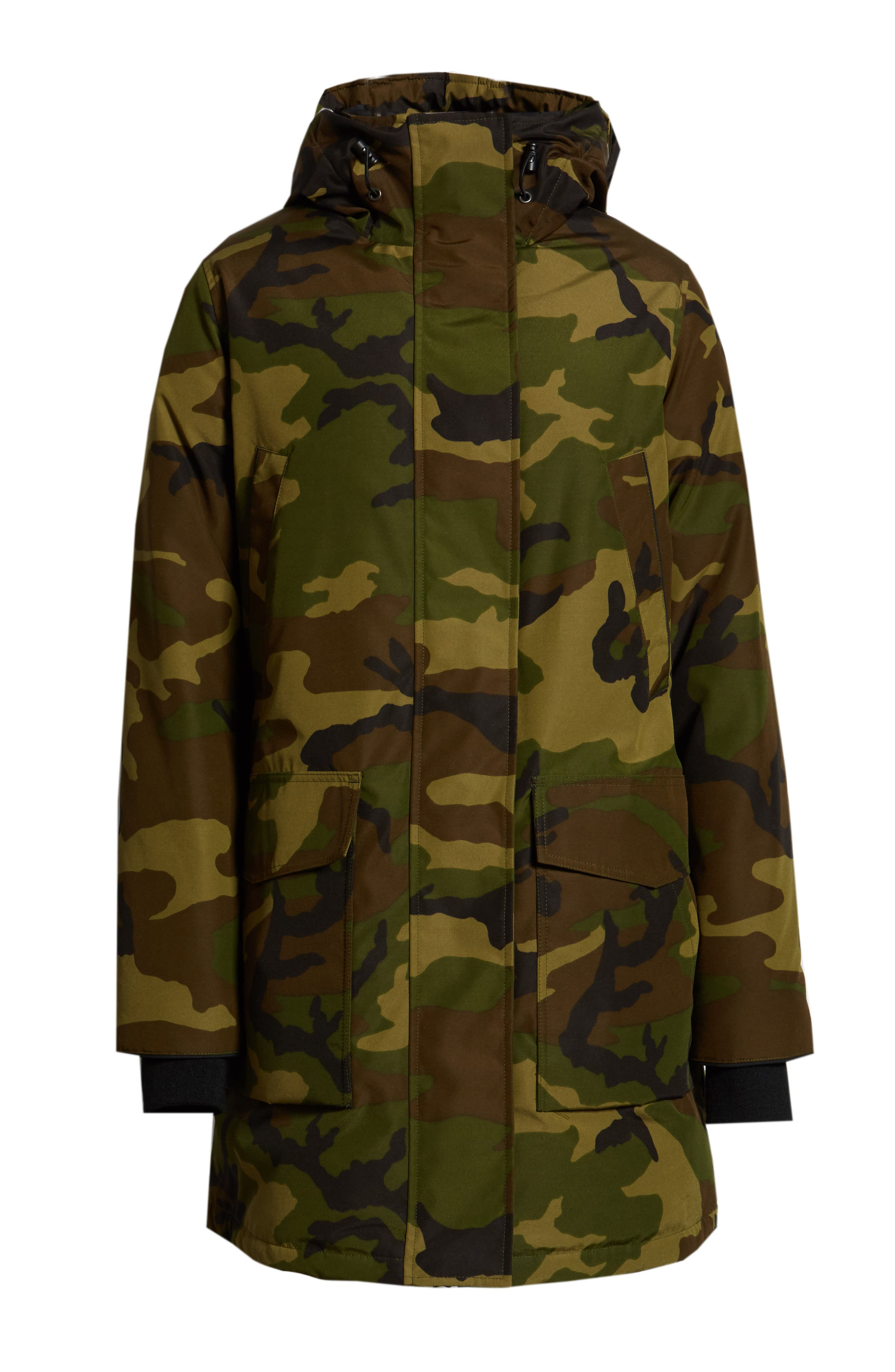 Canmore 625 Fill Power Down Parka,                             Alternate thumbnail 6, color,                             CLASSIC CAMO