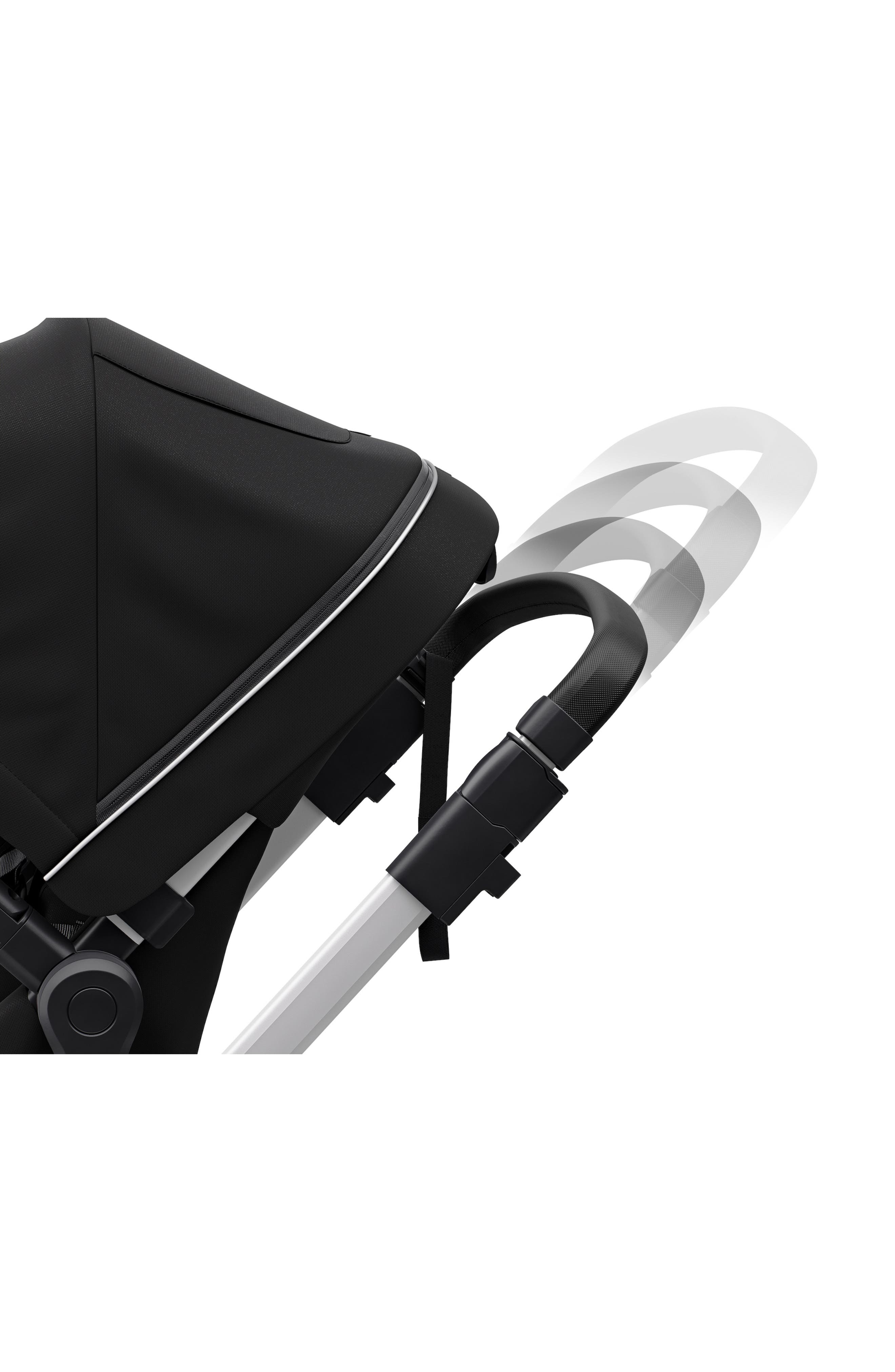2018 Sleek City Stroller,                             Alternate thumbnail 8, color,                             BLACK