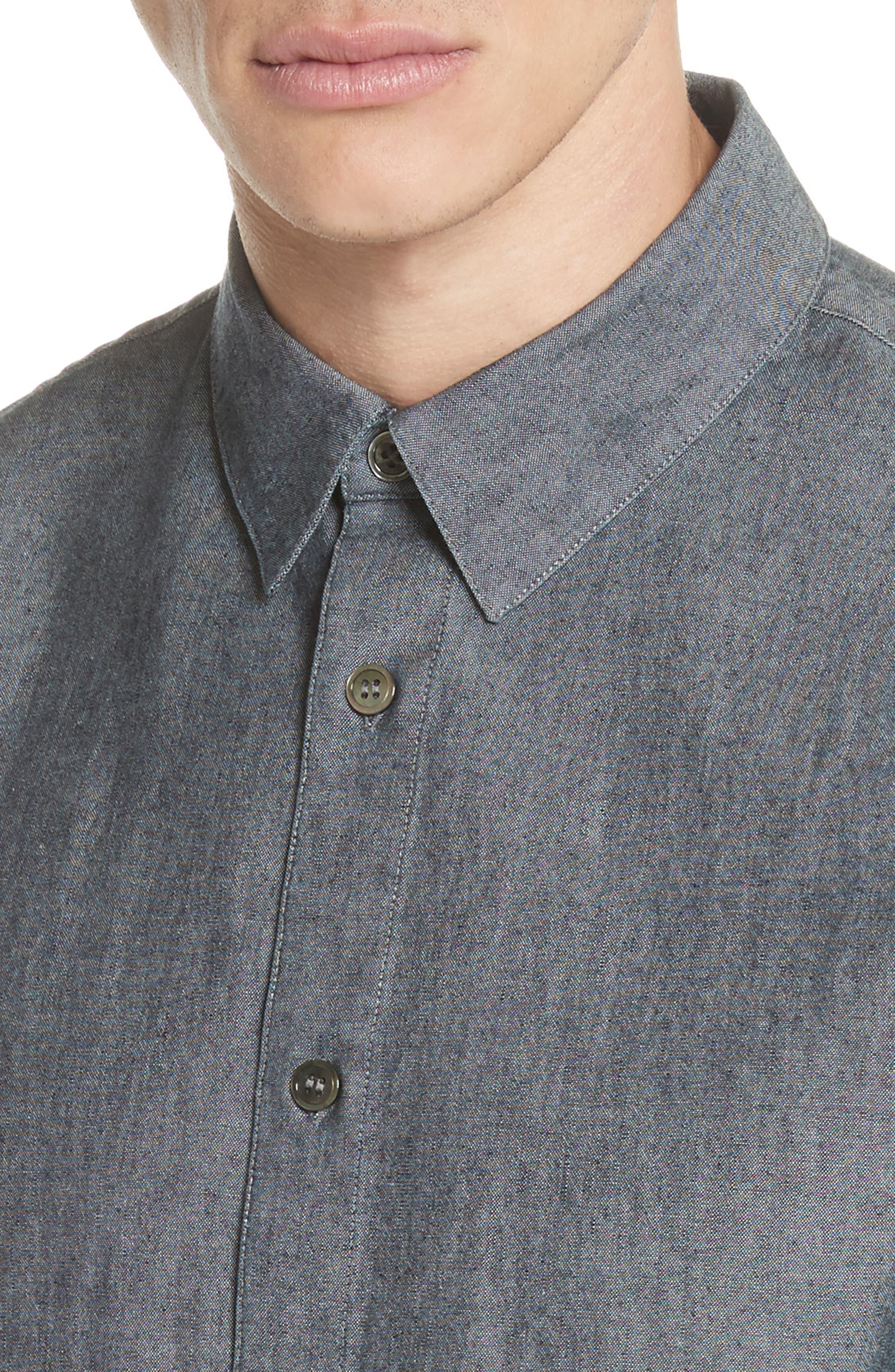 Reno Solid Sport Shirt,                             Alternate thumbnail 4, color,                             INDIGO