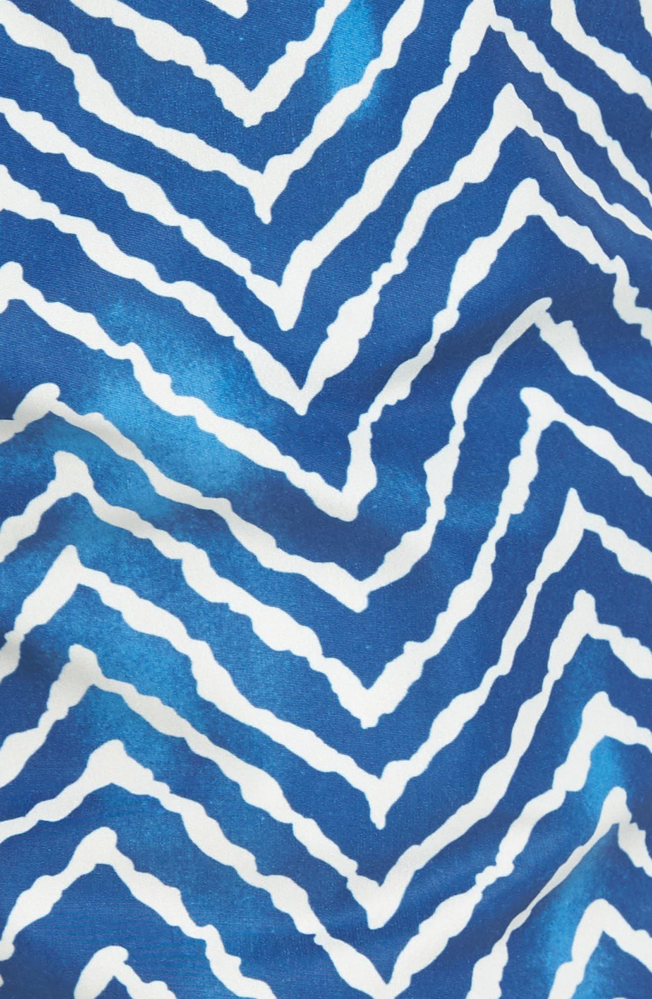 Classic Print Swim Trunks,                             Alternate thumbnail 5, color,