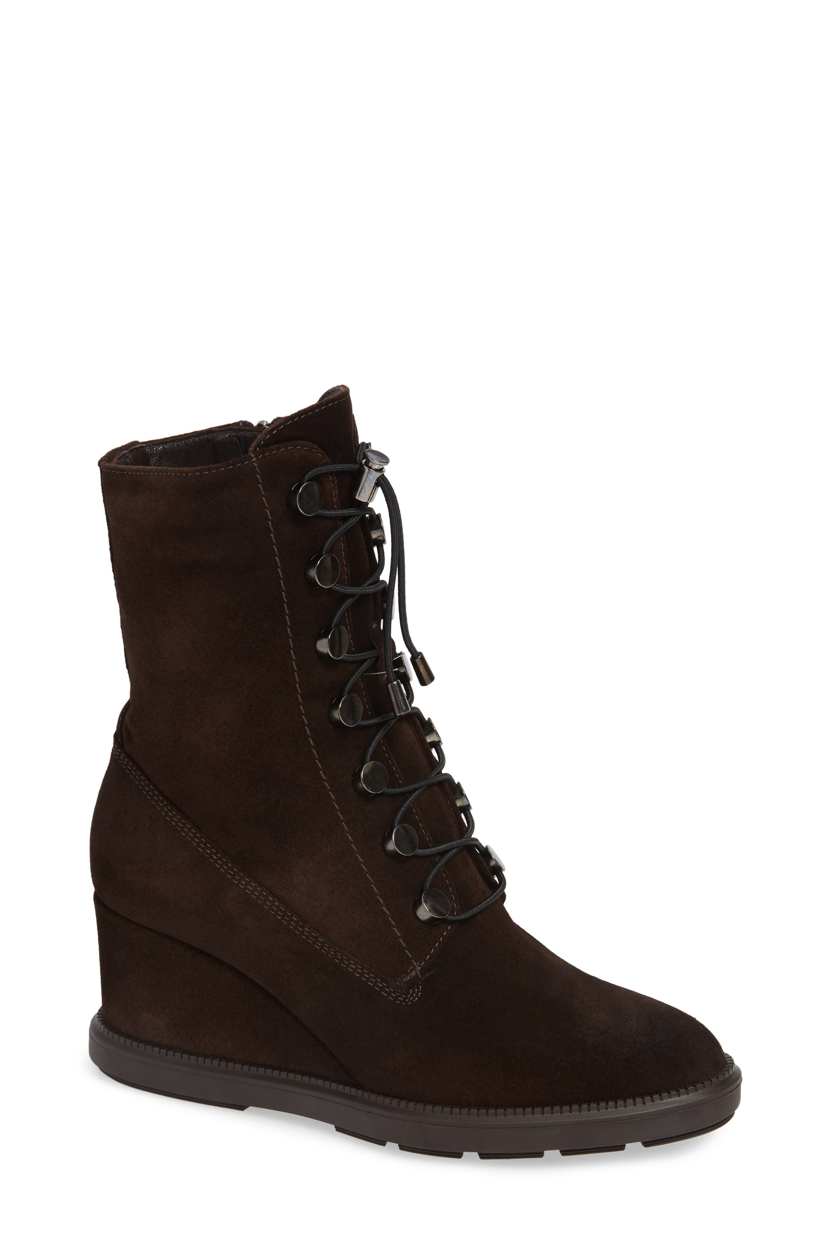 Campbell Wedge Boot,                         Main,                         color, ESPRESSO SUEDE