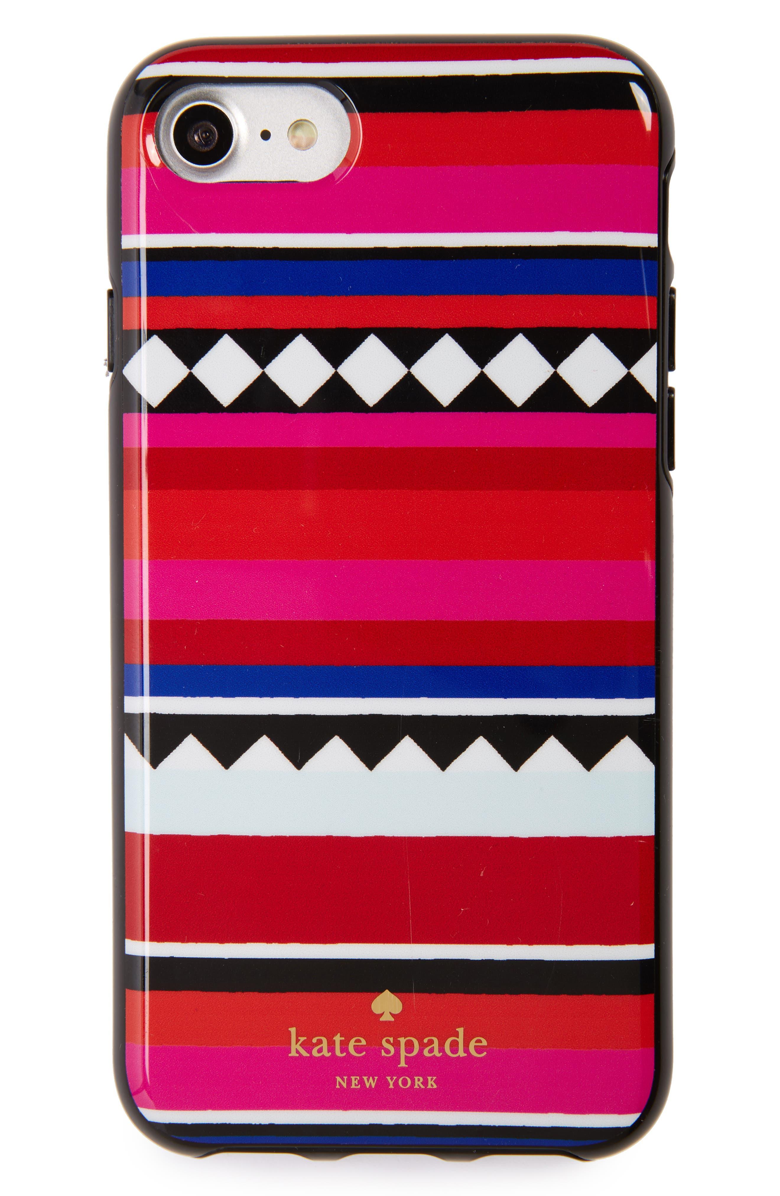 geo stripe iPhone 7/8 & 7/8 Plus case,                         Main,                         color, 600