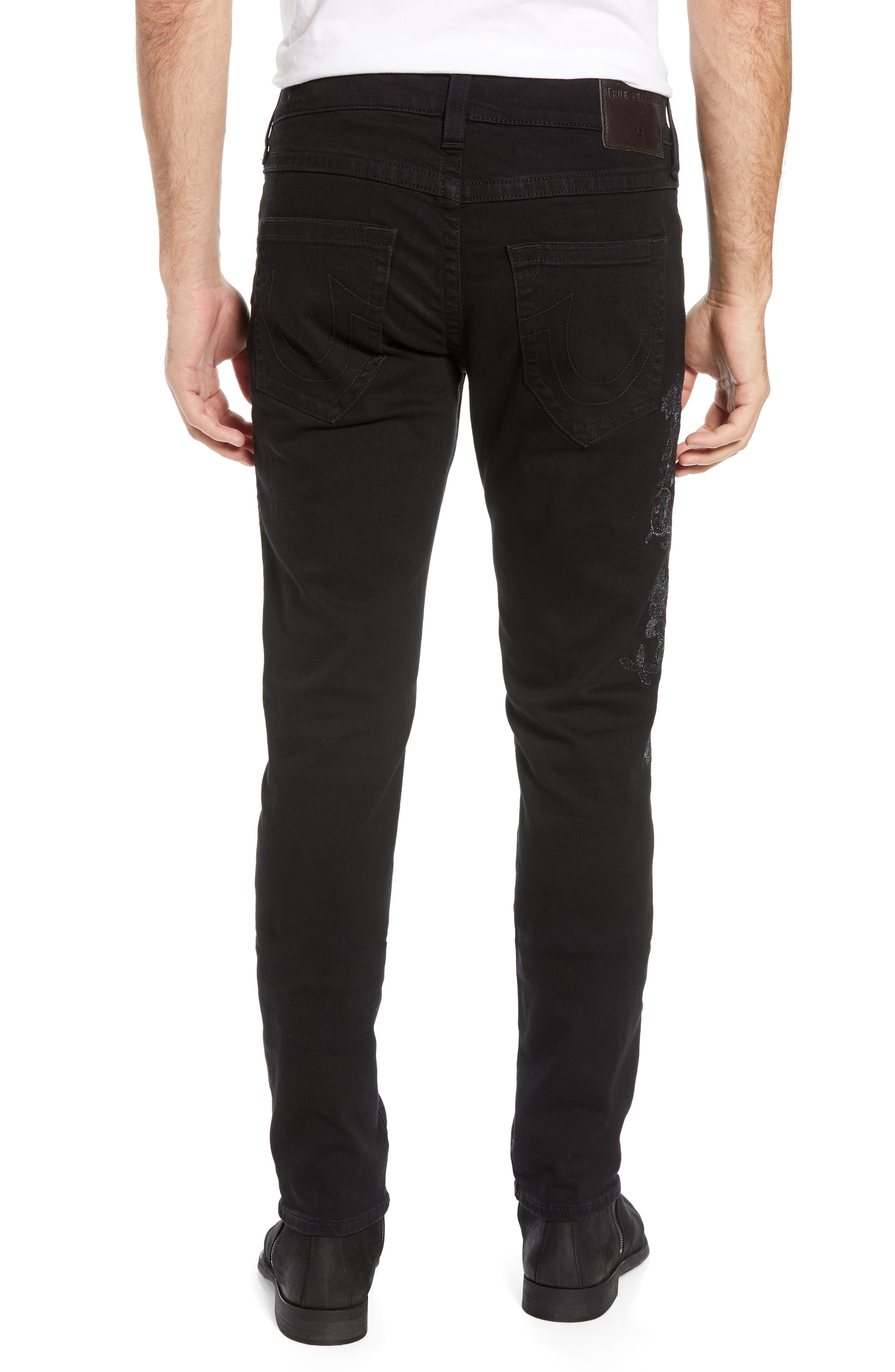 TRUE RELIGION BRAND JEANS,                             Rocco Skinny Fit Jeans,                             Alternate thumbnail 2, color,                             FPCB MAGNETIC FIELD