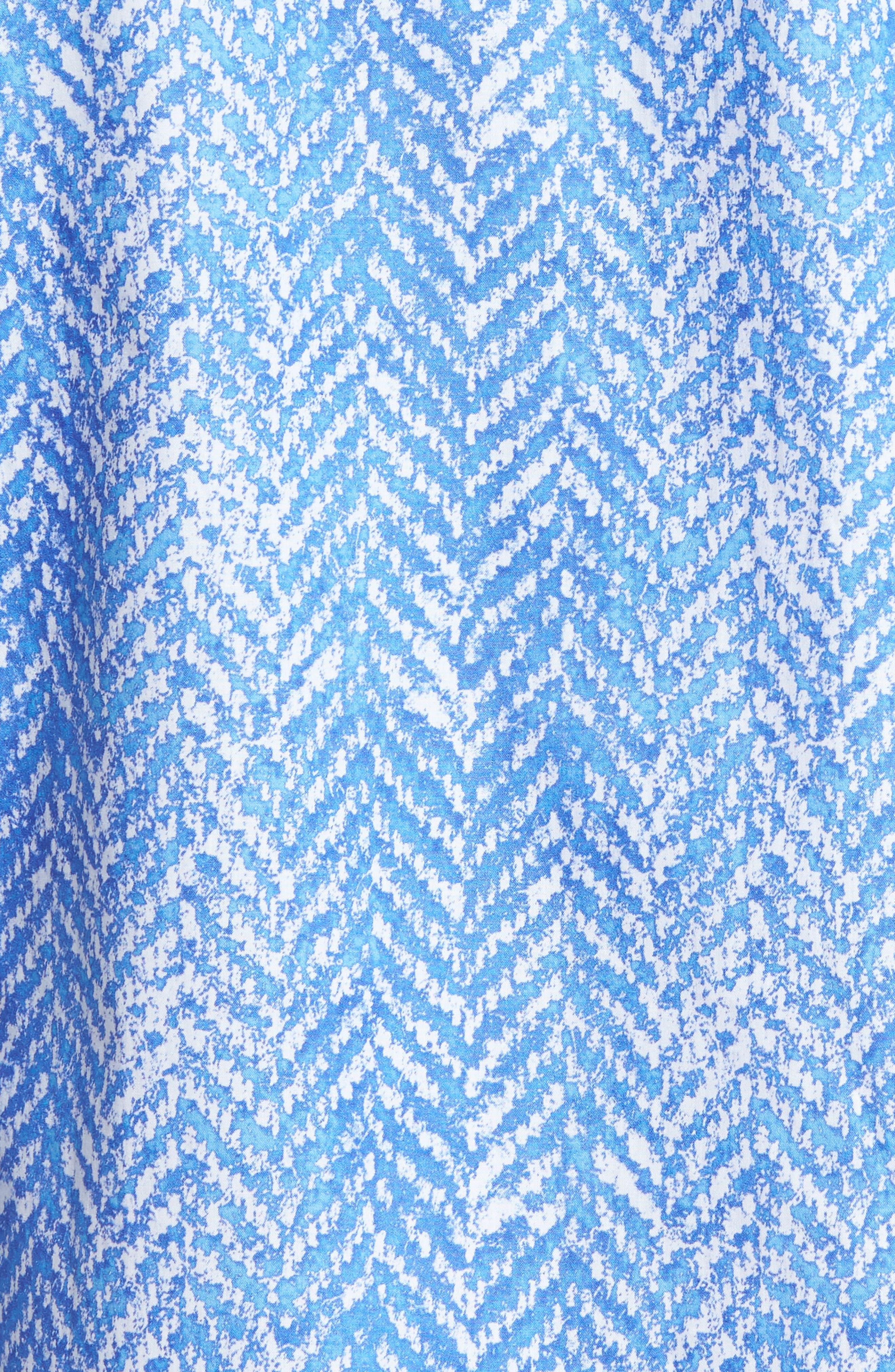 Classic Fit Herringbone Print Sport Shirt,                             Alternate thumbnail 5, color,                             422