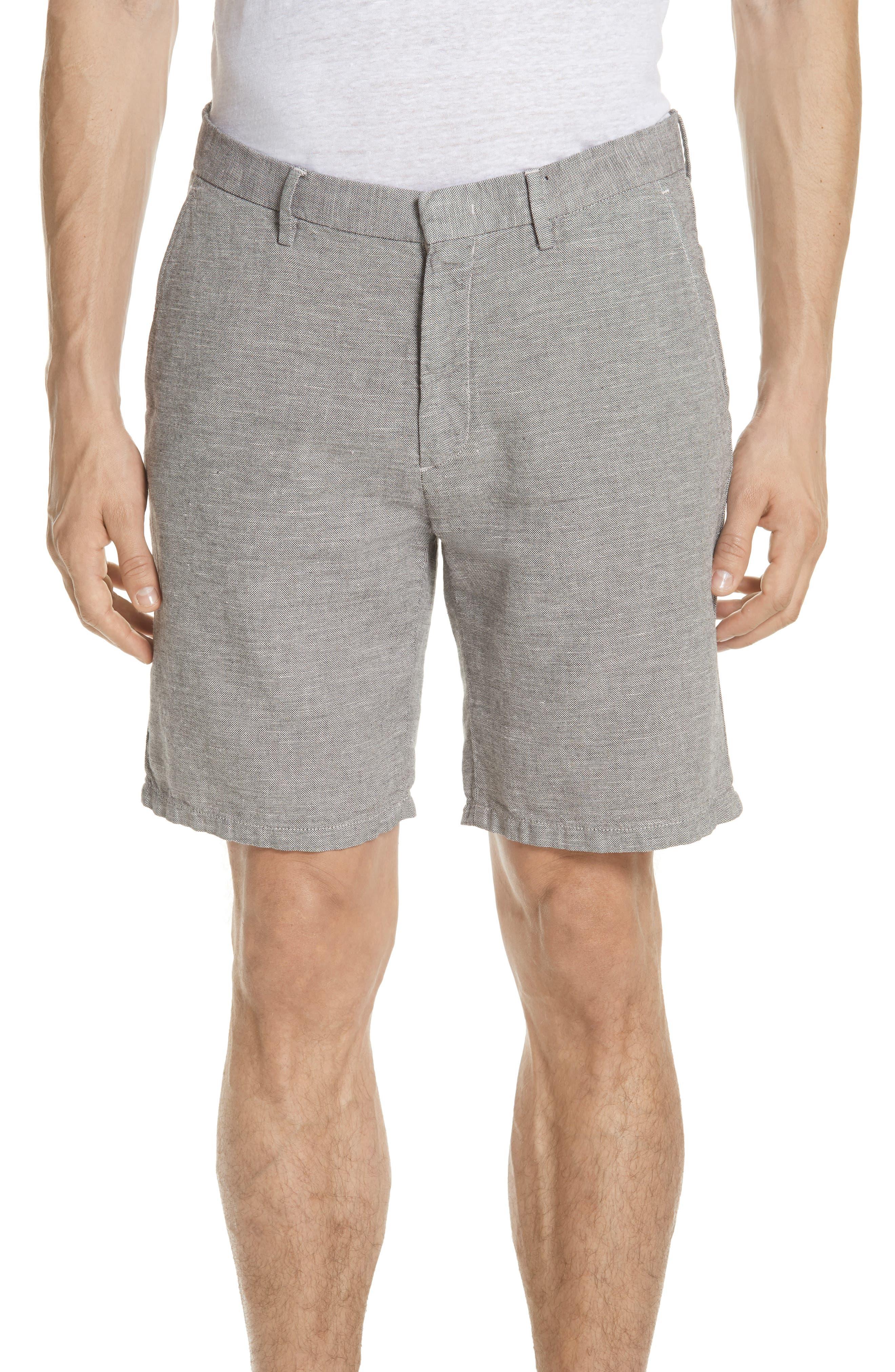 Panama Linen & Cotton Chino Shorts,                             Main thumbnail 1, color,                             LIMESTONE