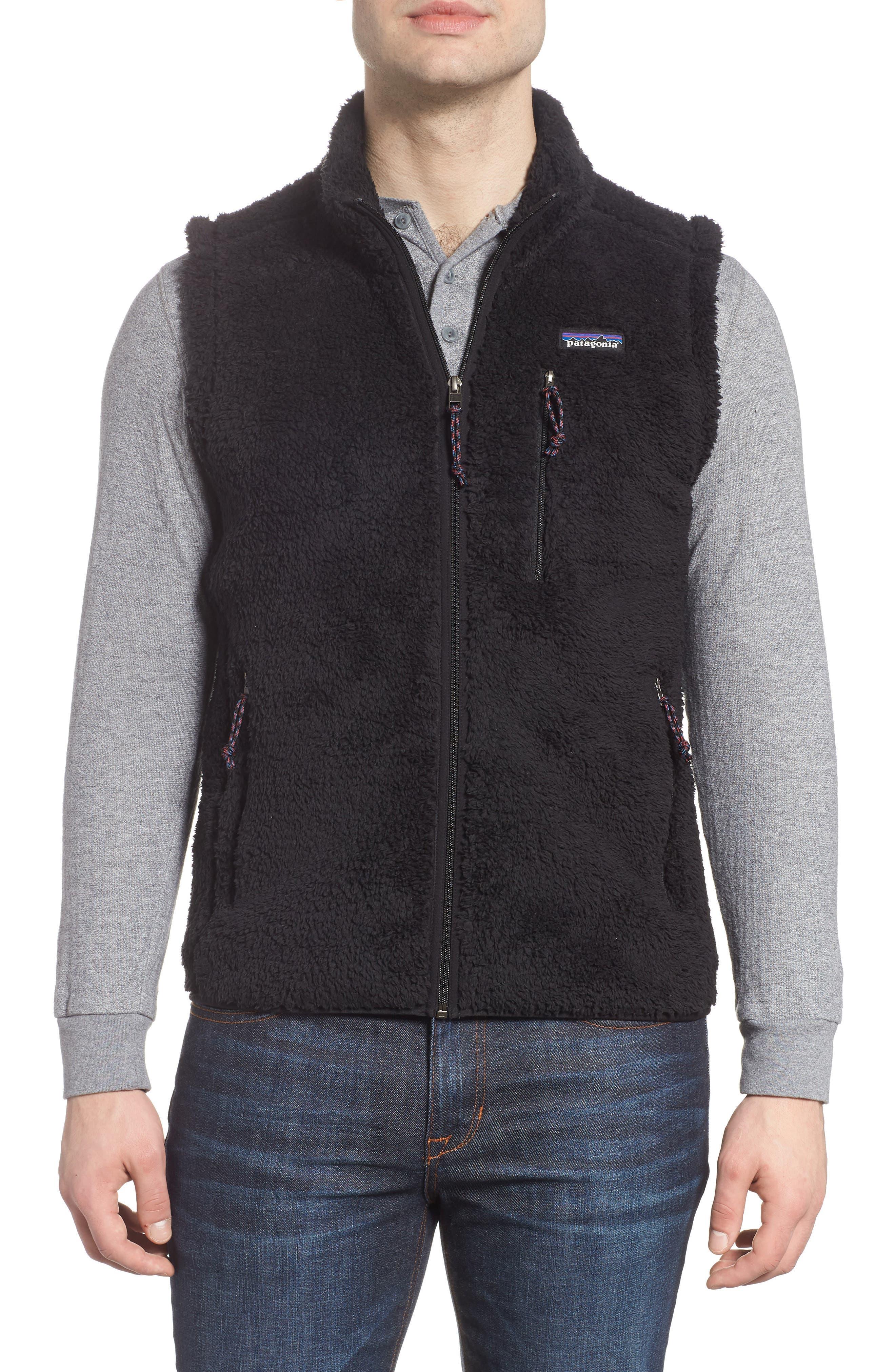 Los Gatos Fleece Vest,                         Main,                         color, BLACK