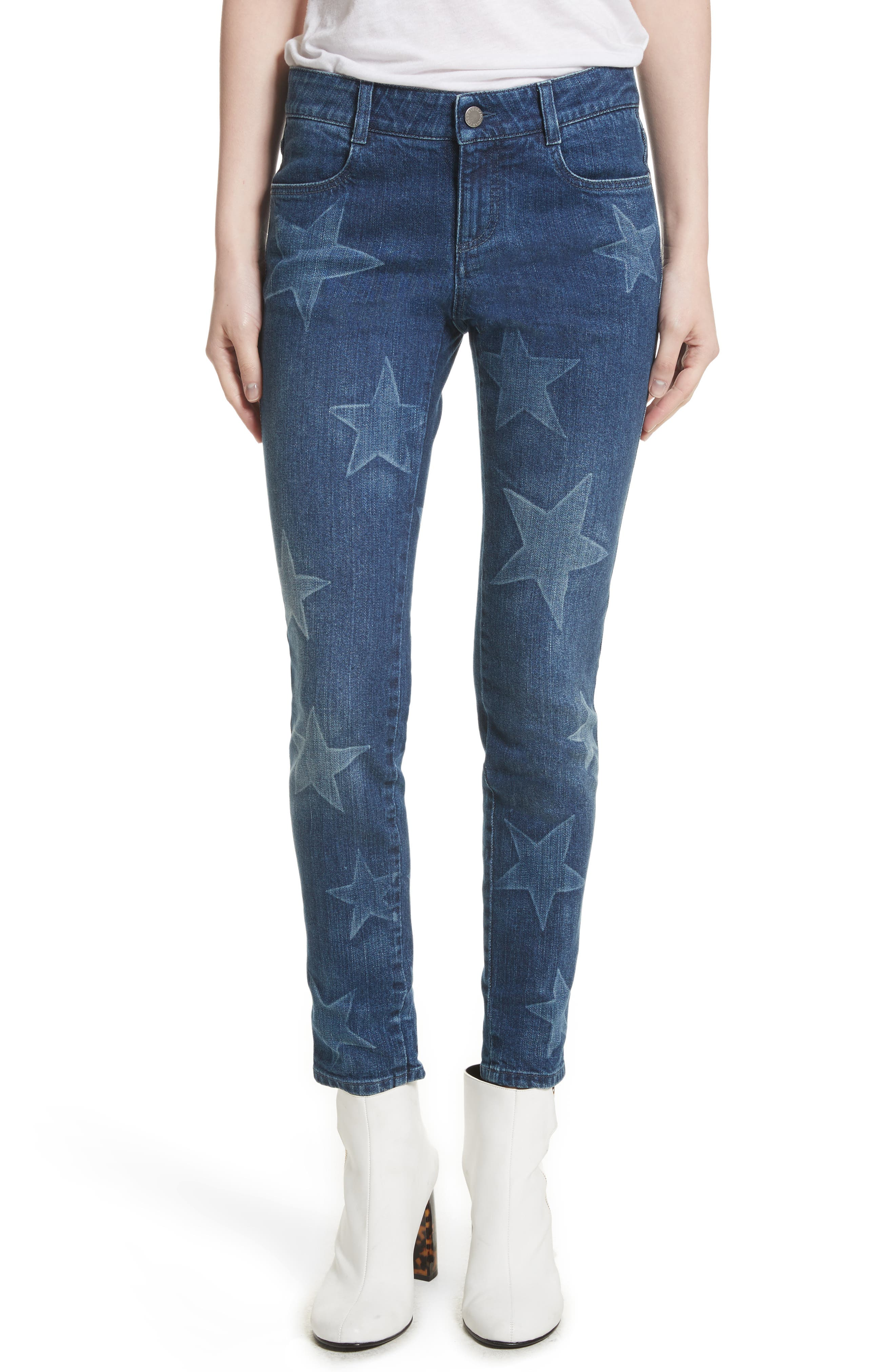 Skinny Ankle Grazer Star Jeans,                         Main,                         color, 430